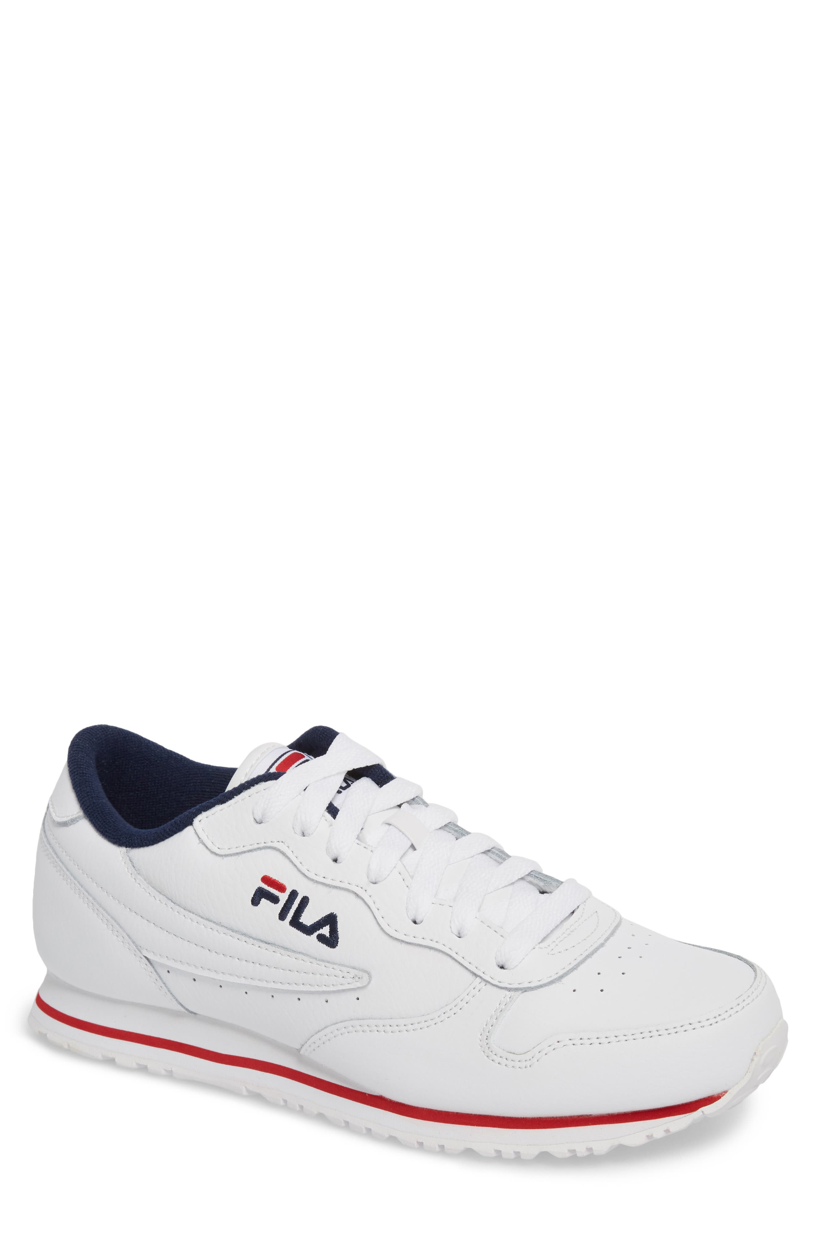Euro Jogger Sneaker,                         Main,                         color, WHITE/ NAVY/ RED