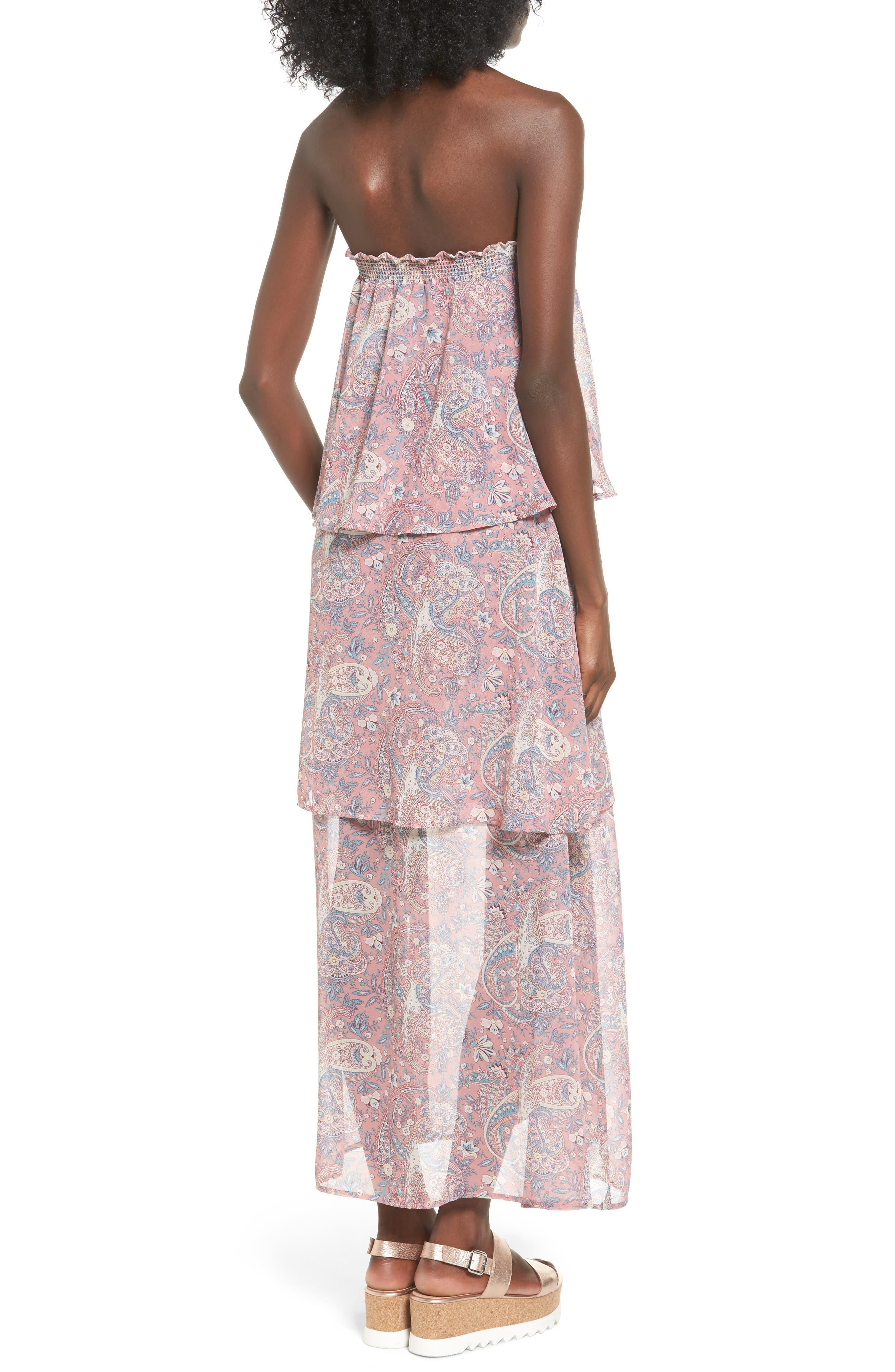 Karla Convertible Strapless Dress,                             Alternate thumbnail 6, color,