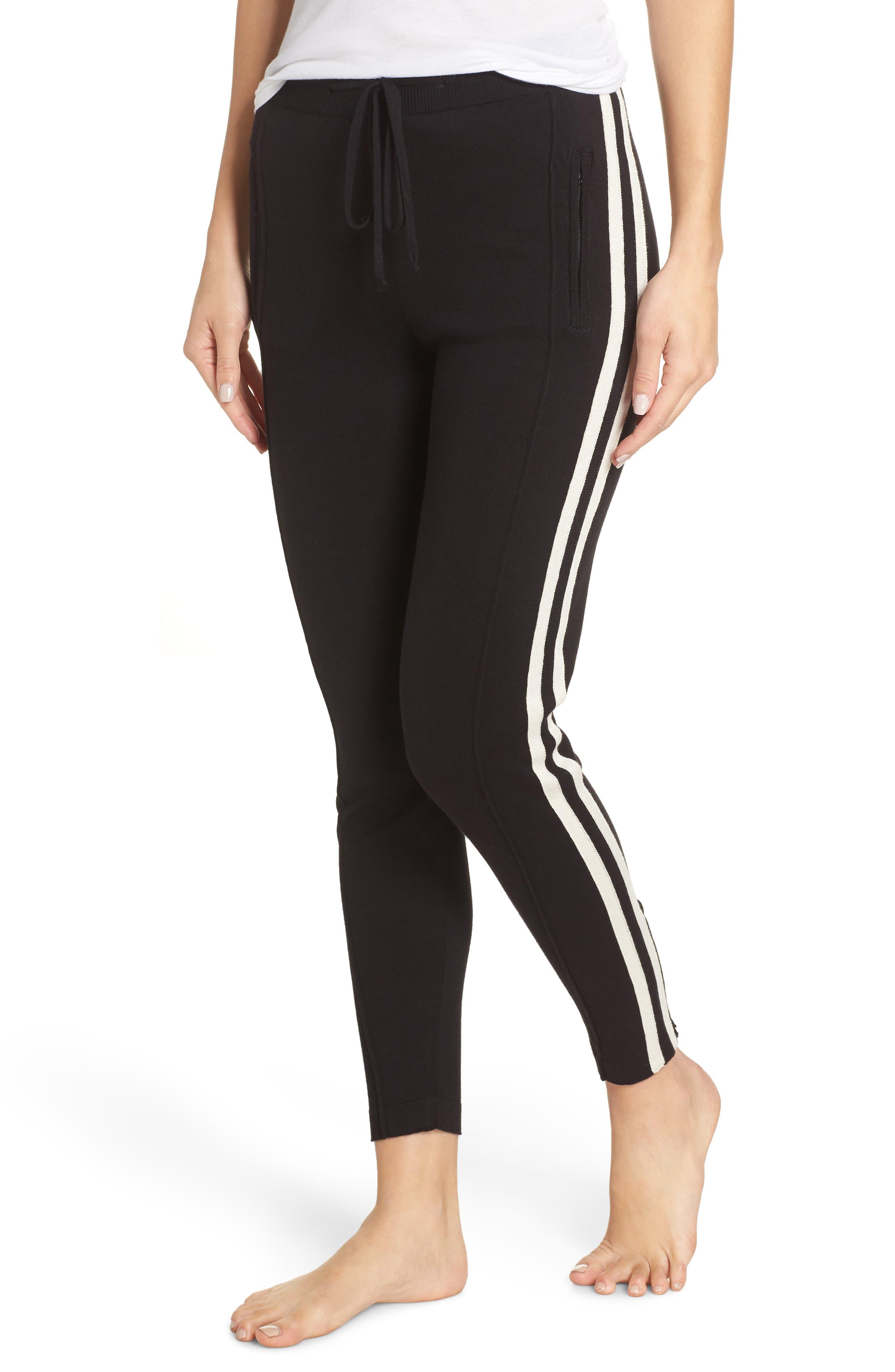 RAGDOLL Striped Lounge Pants in Black/ White
