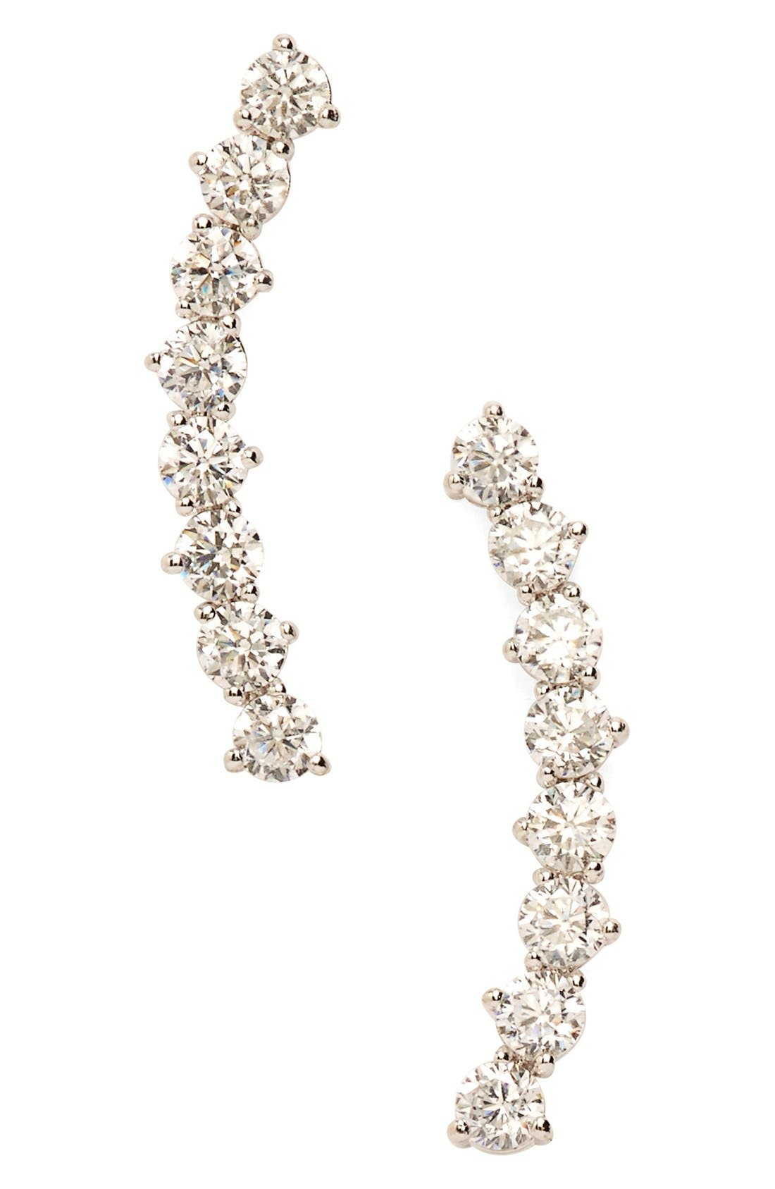 'Salome' Cubic Zirconia Ear Crawlers,                         Main,                         color,