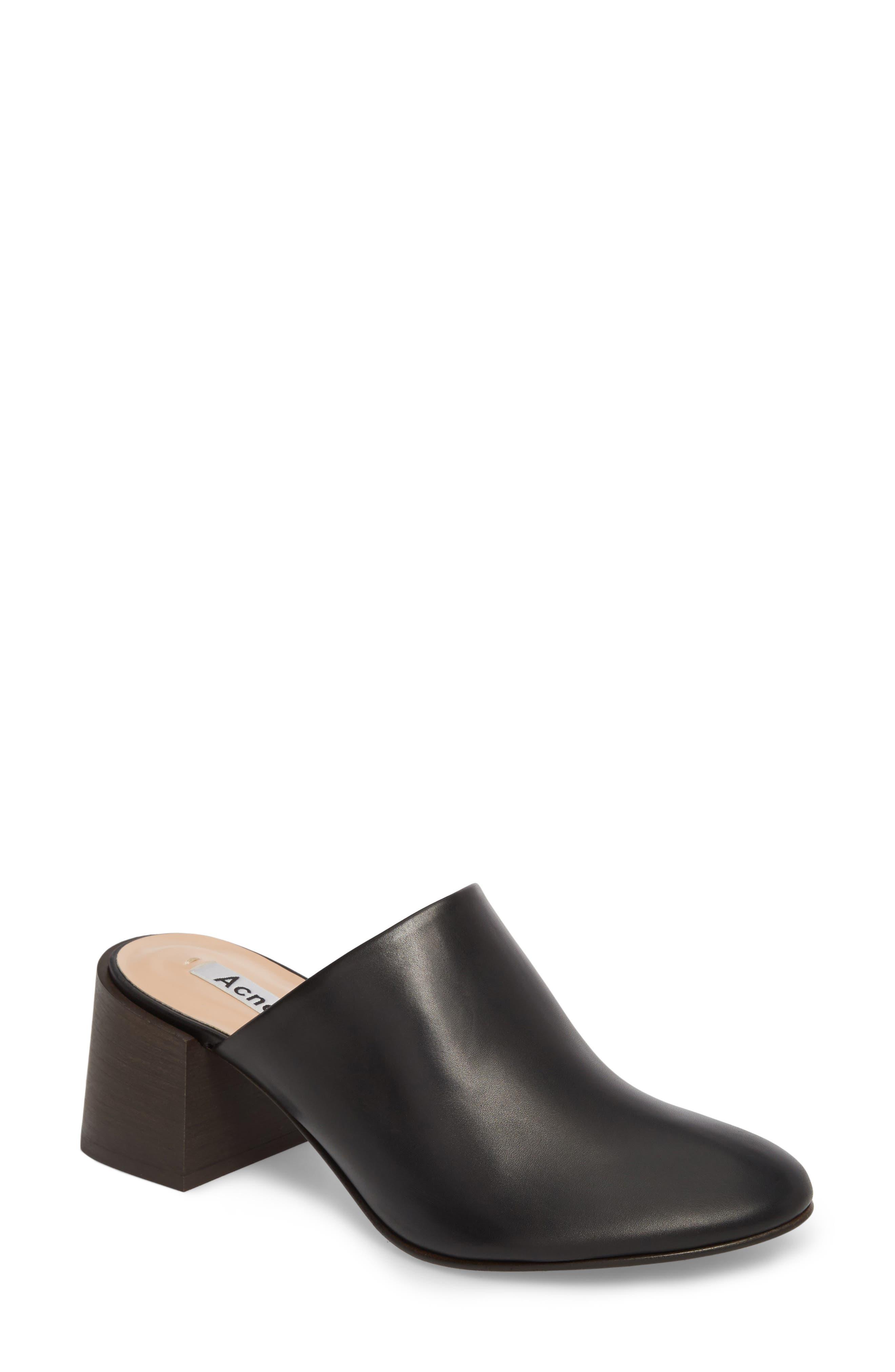 Sil Block Heel Mule,                         Main,                         color, 001