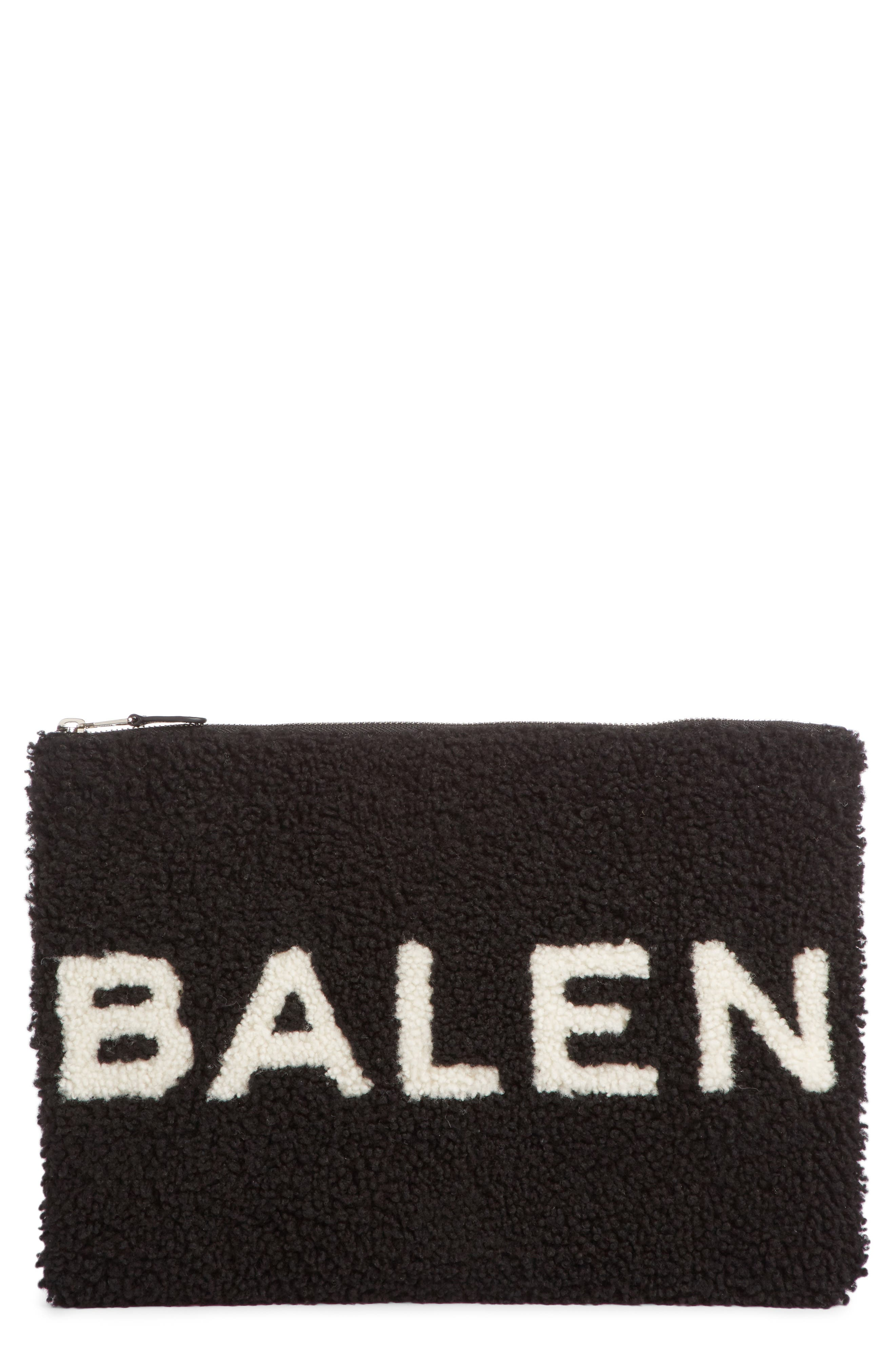 Genuine Shearling Pouch,                         Main,                         color, 011