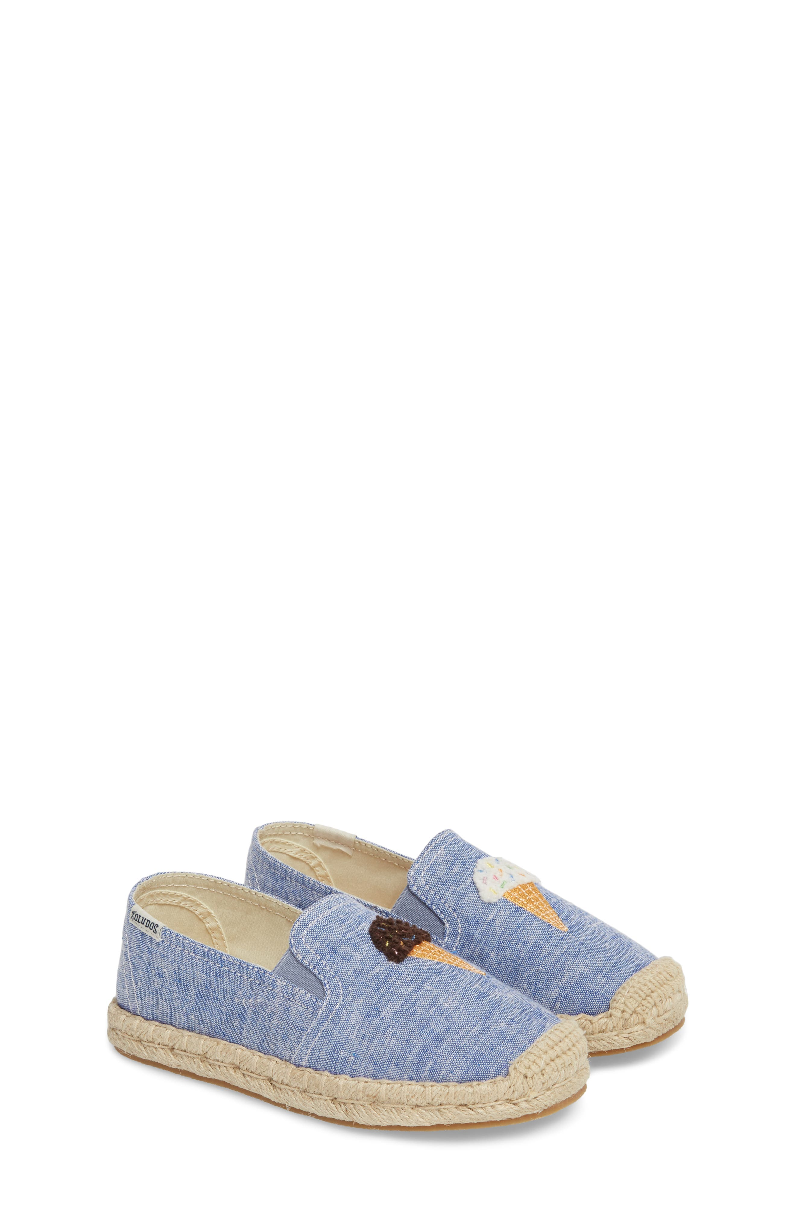 Ice Cream Embroidered Espadrille,                             Alternate thumbnail 2, color,                             OCEAN BLUE