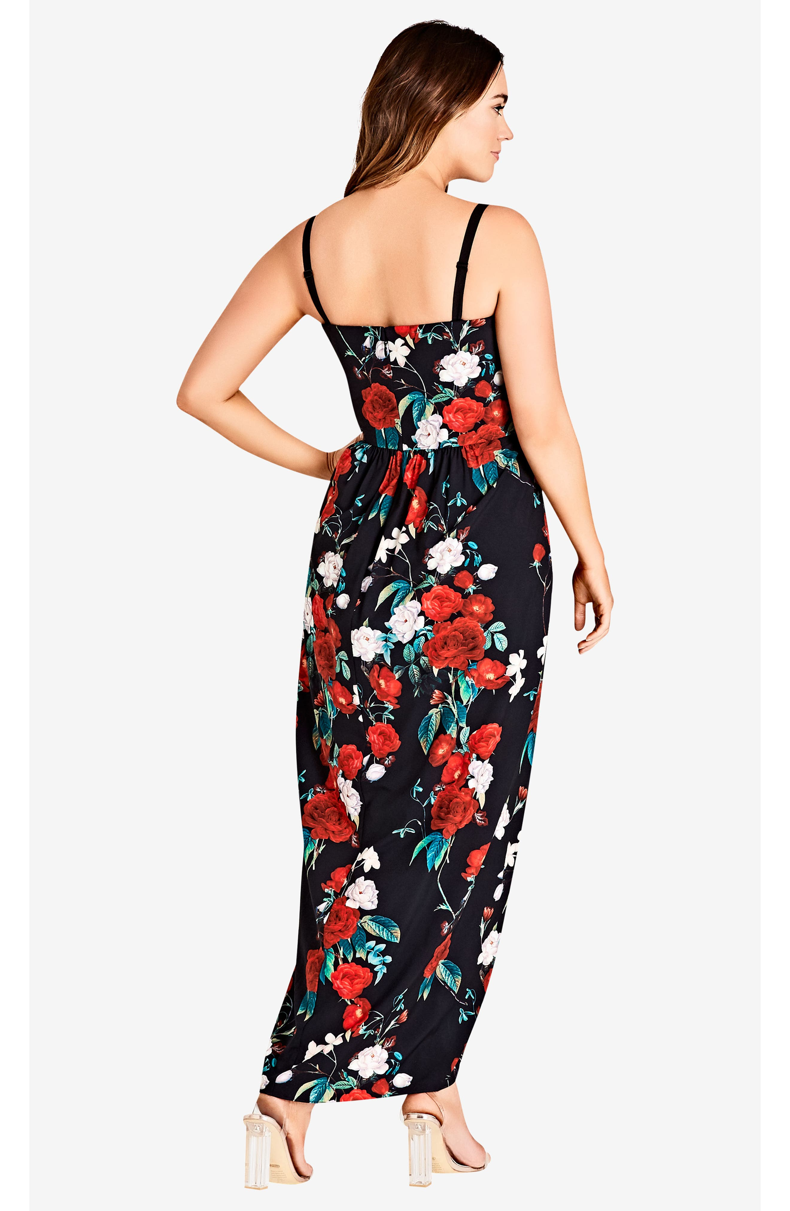 Come Hither Maxi Dress,                             Alternate thumbnail 5, color,                             ROSE ADORE