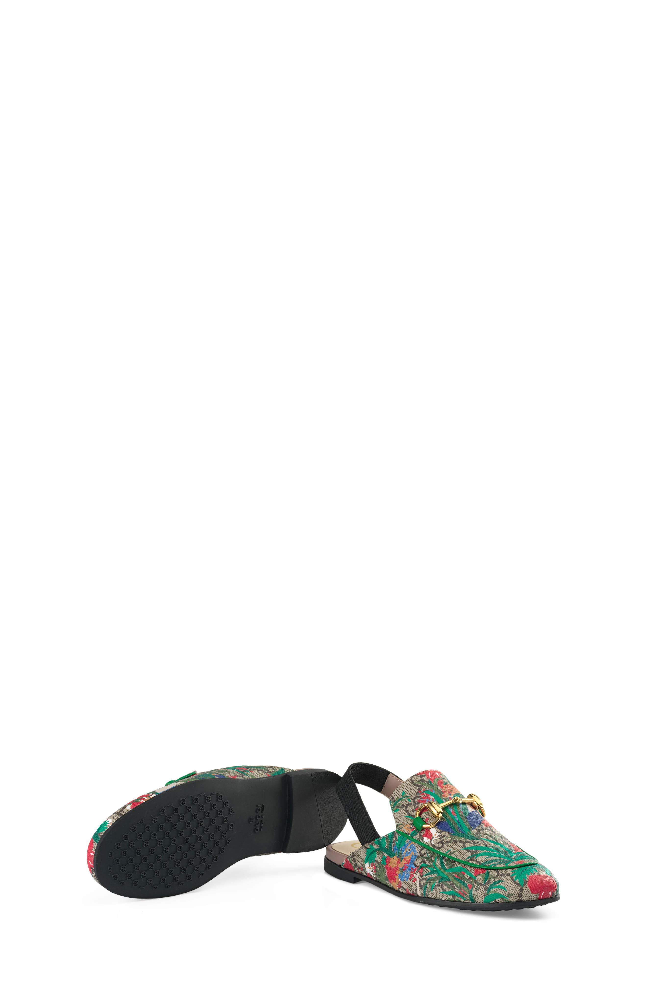 Princetown Slingback Loafer Mule,                             Alternate thumbnail 5, color,                             BEIGE EBONY MULTI