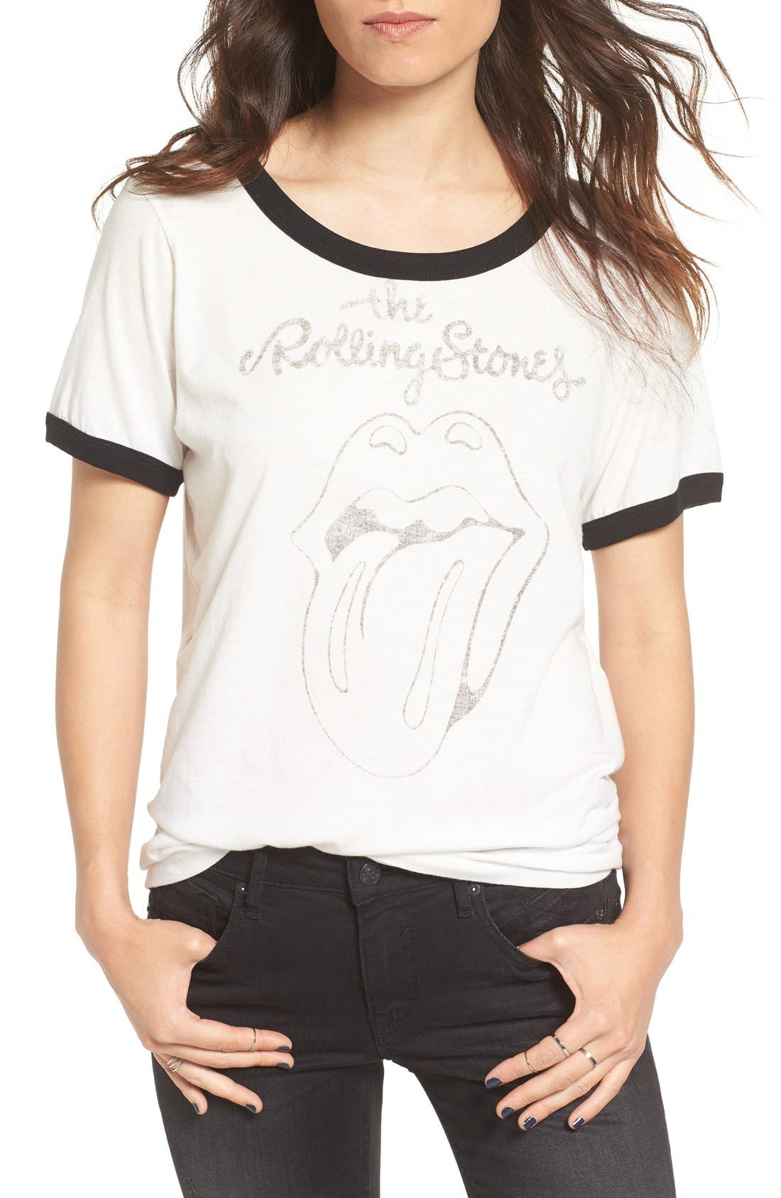 'Rolling Stones' Graphic Ringer Tee,                             Main thumbnail 1, color,                             101