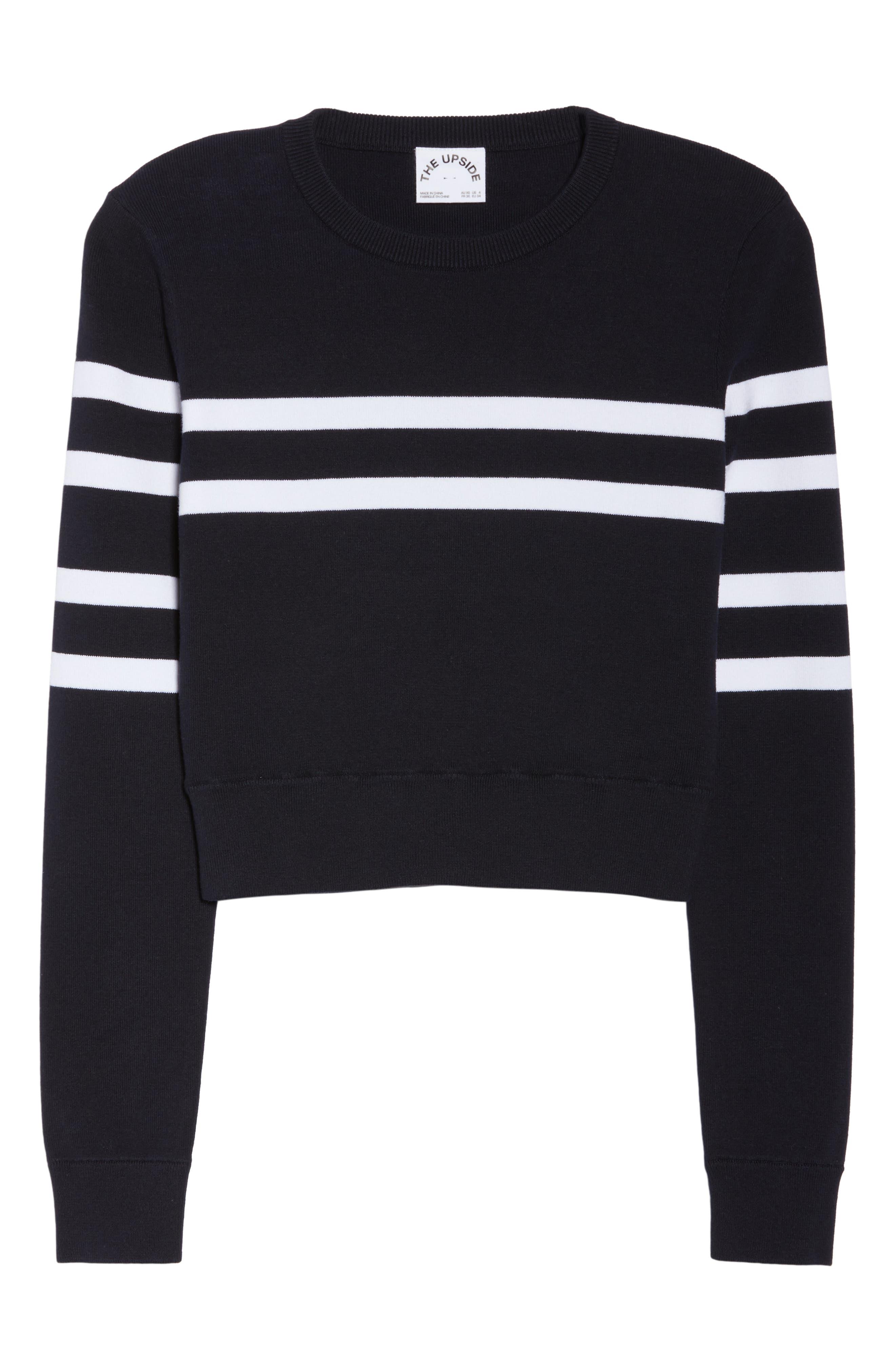 Nala Crop Sweater,                             Alternate thumbnail 7, color,                             INDIGO