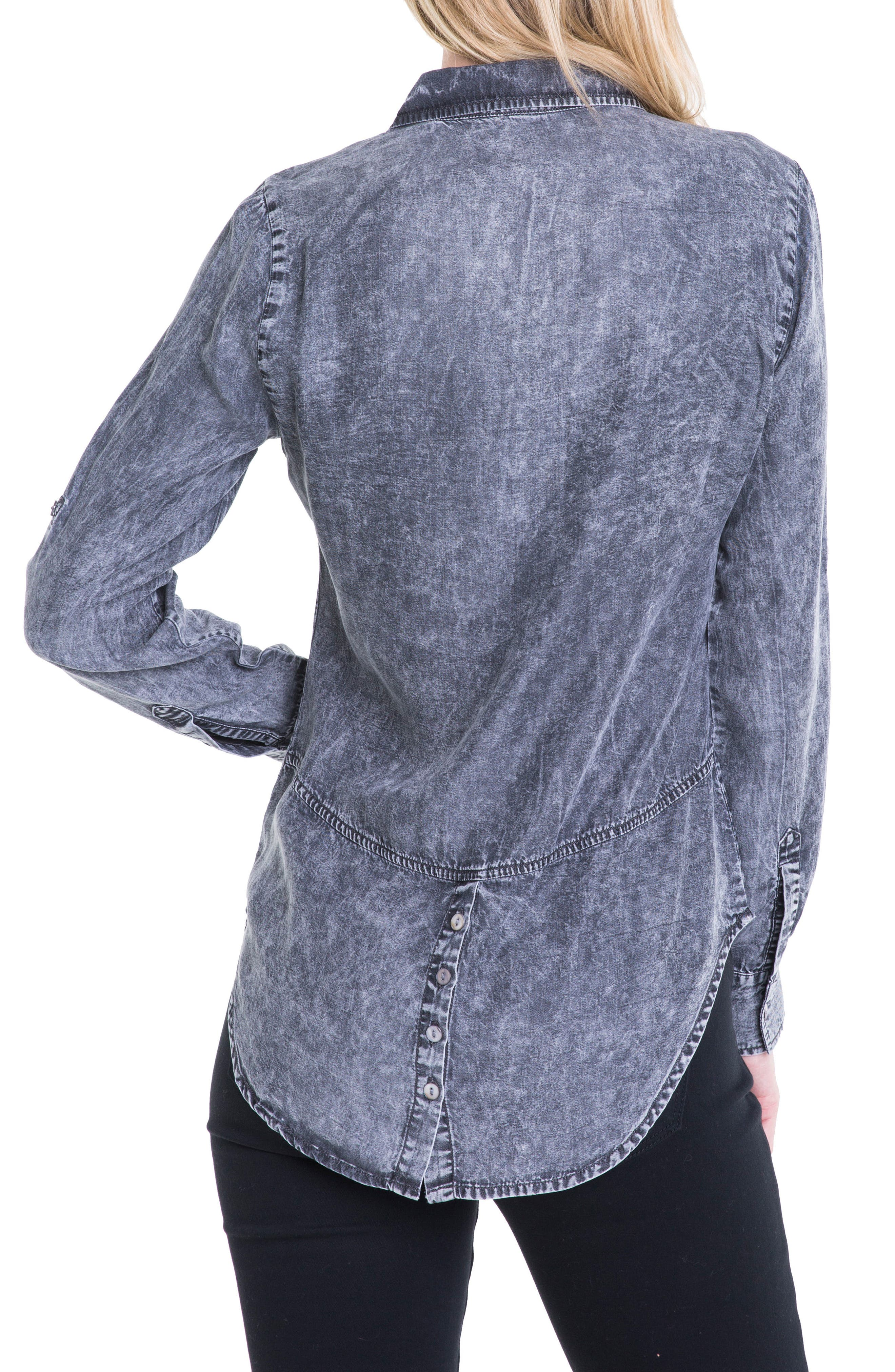Button Back Chambray Shirt,                             Alternate thumbnail 5, color,