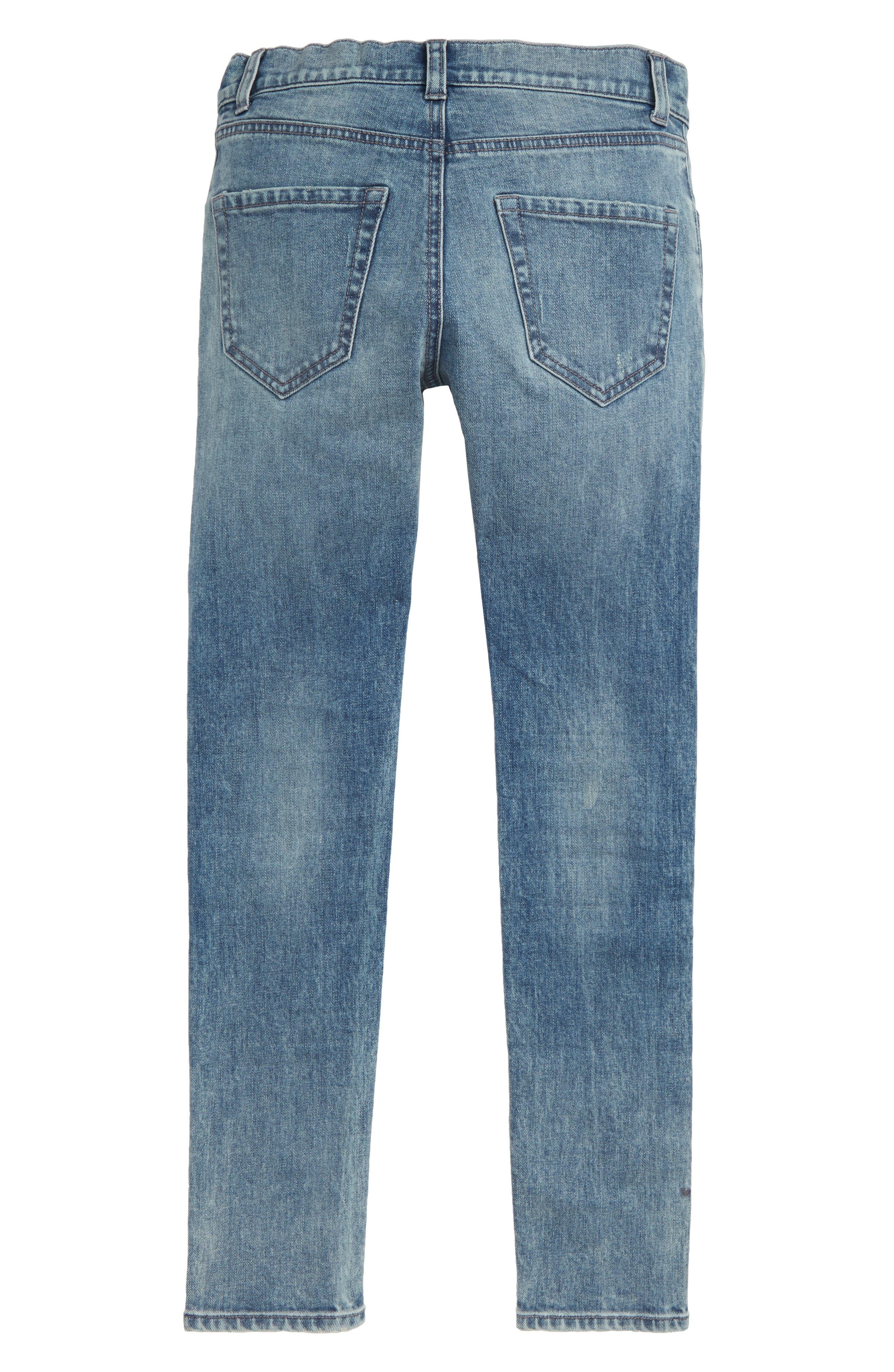Treaure & Bond Light Wash Jeans,                             Alternate thumbnail 2, color,                             ACID FADE WASH