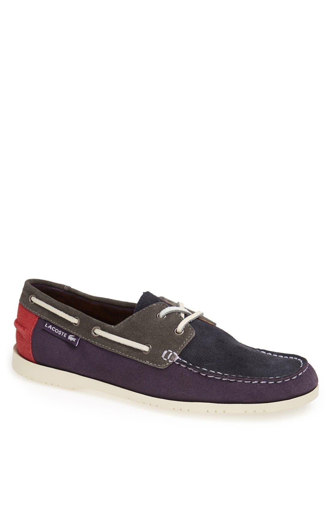 LACOSTE,                             'Corbon 7' Boat Shoe,                             Main thumbnail 1, color,                             518