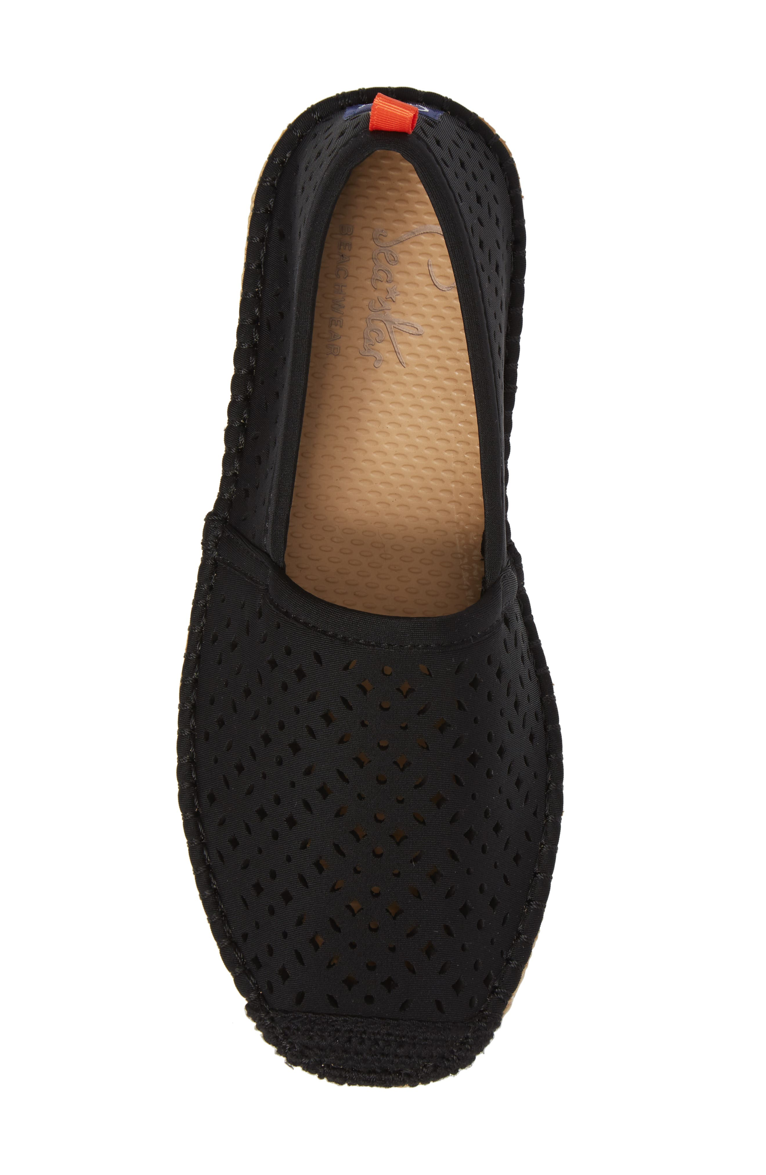 Sea Star Beachcomber Espadrille Sandal,                             Alternate thumbnail 5, color,                             BLACK EYELET