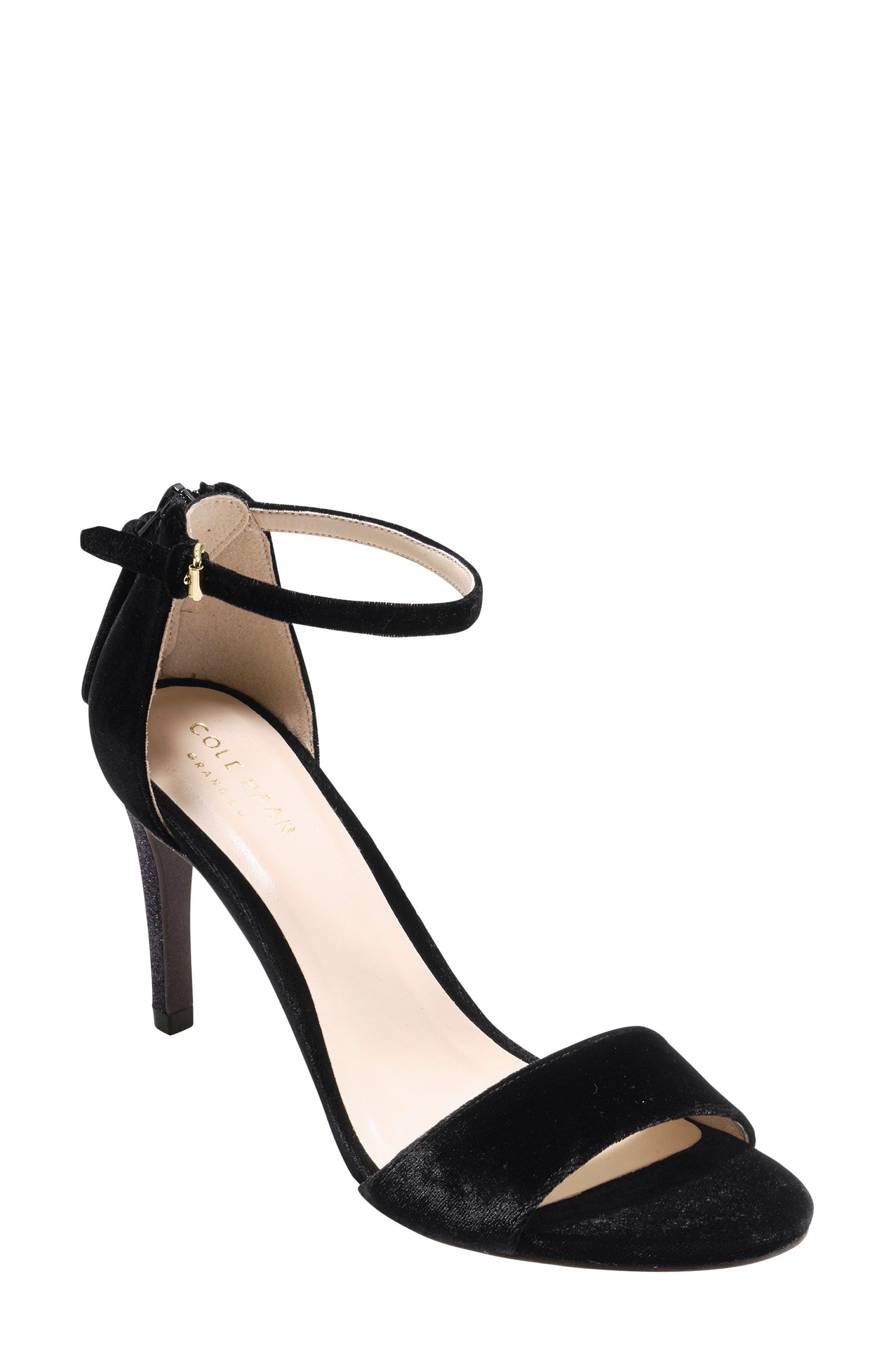 Clara Grand Ankle Strap Sandal,                             Main thumbnail 1, color,                             001