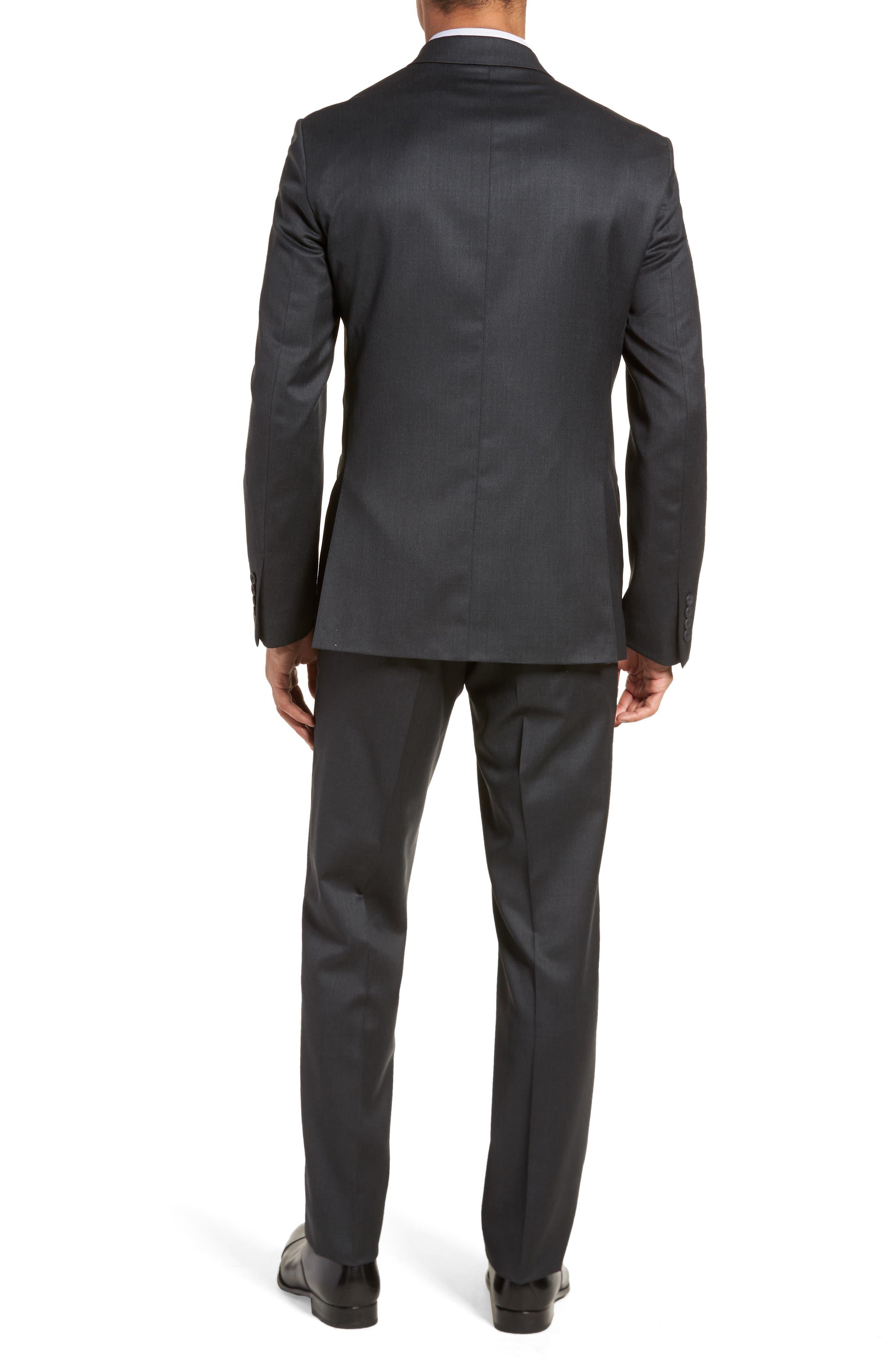 Trim Fit Solid Wool Suit,                             Alternate thumbnail 2, color,                             021