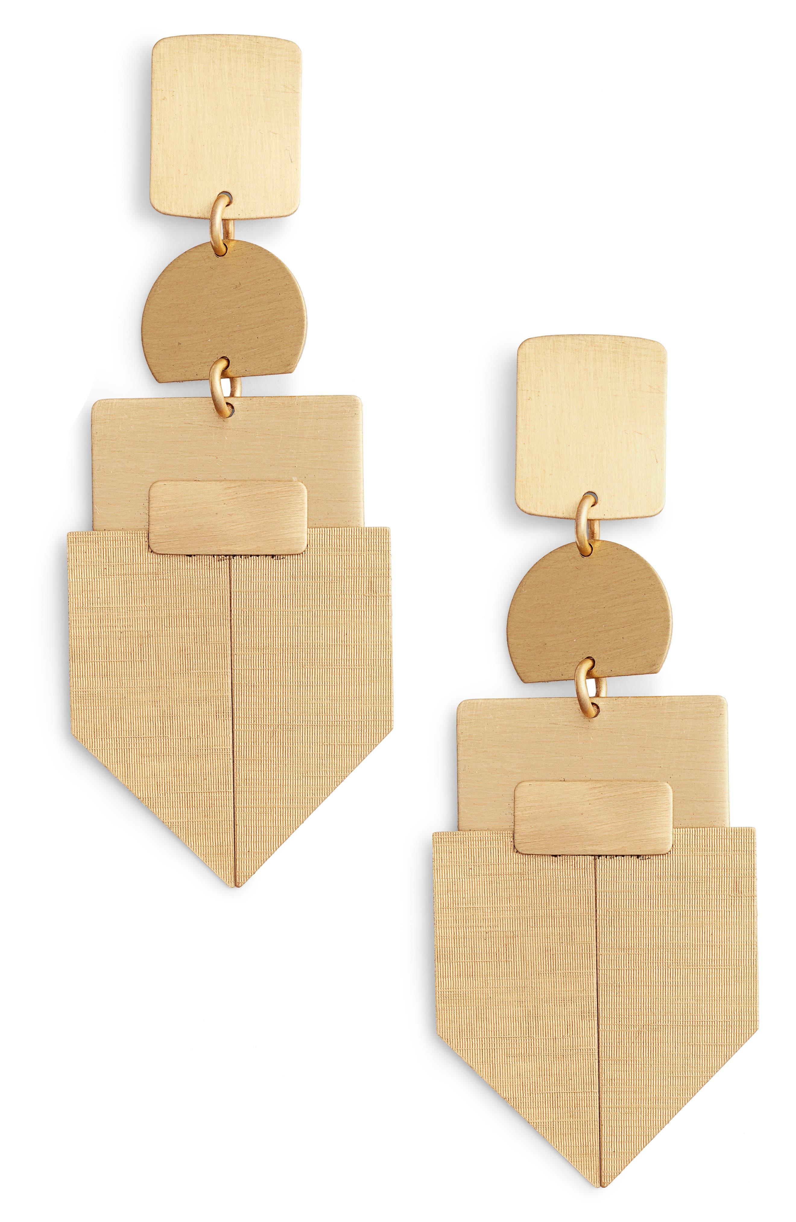 Geometric Drop Earrings,                         Main,                         color, 710
