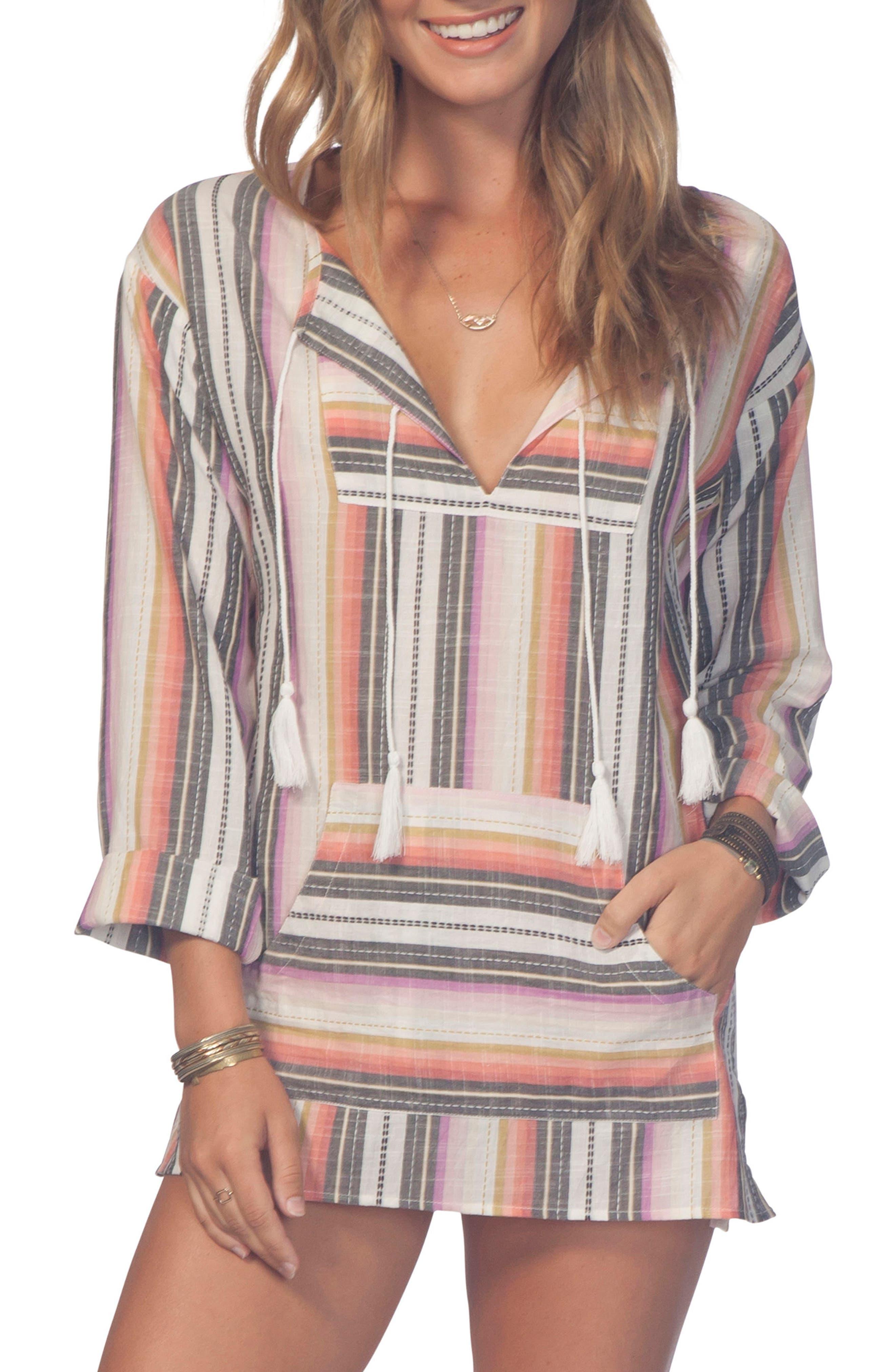 Sayulita Stripe Poncho Top,                         Main,                         color,