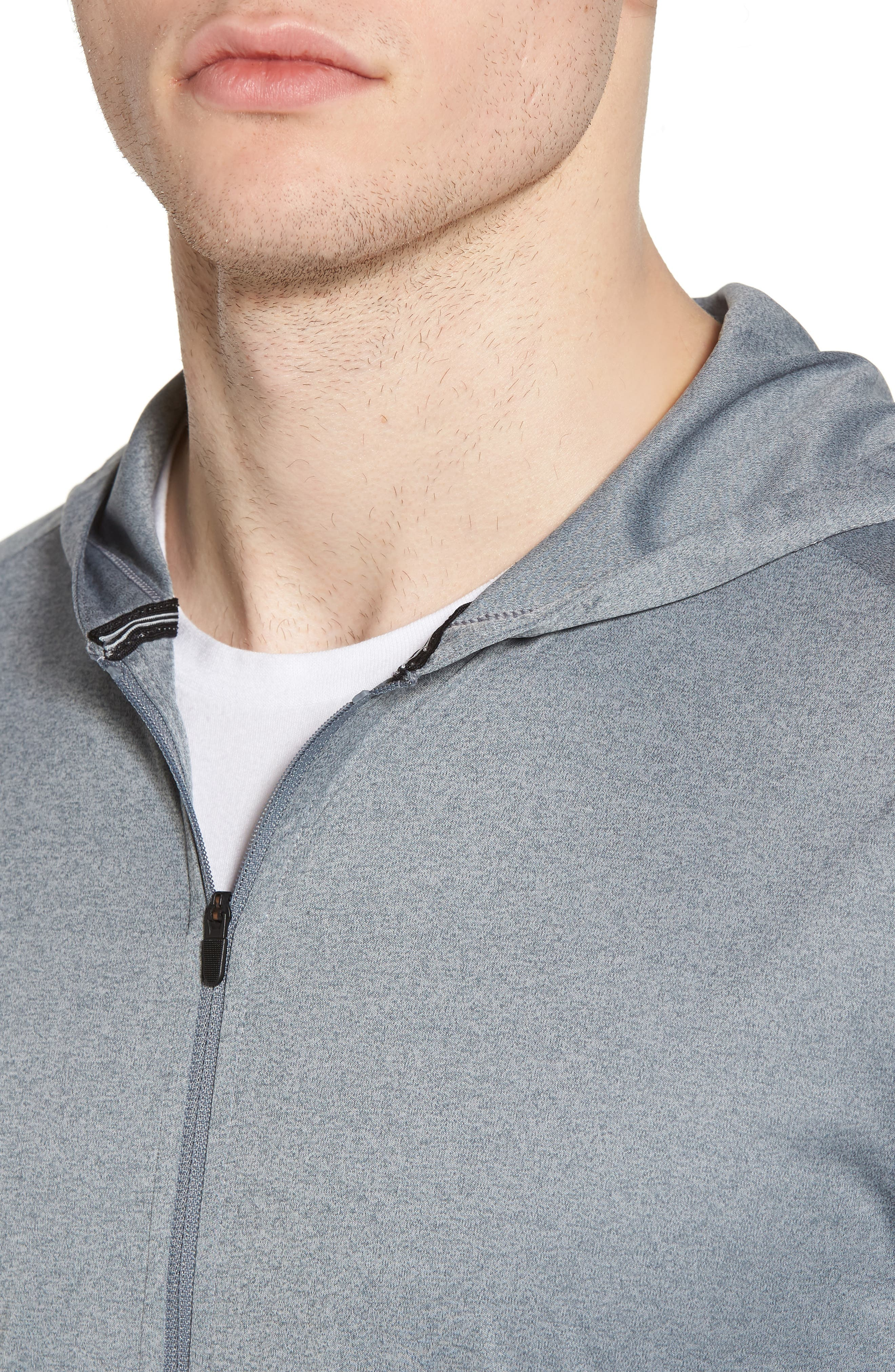 Icon Quick Dry Zip Hoodie,                             Alternate thumbnail 4, color,                             066