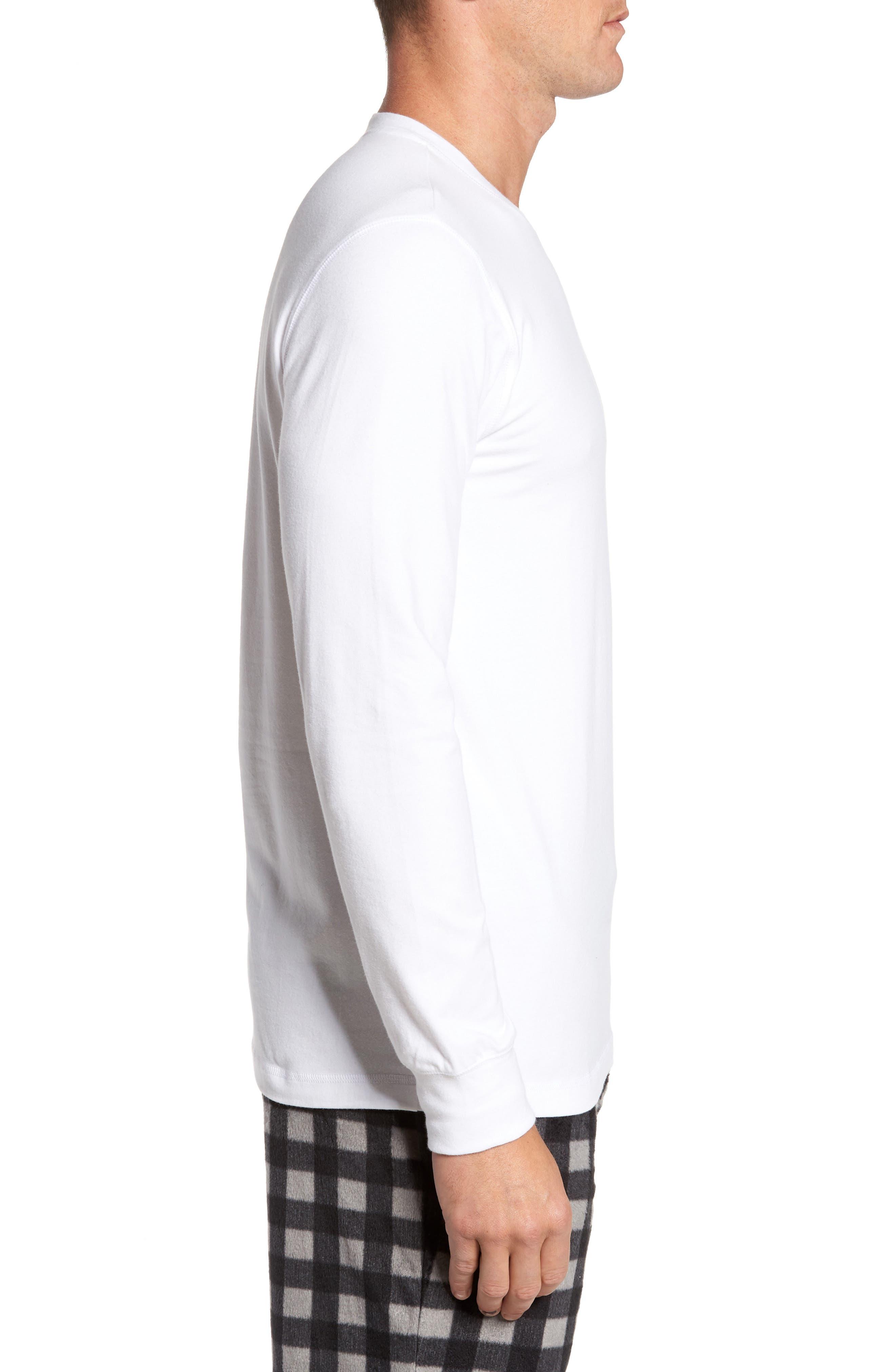 Stretch Cotton Long Sleeve T-Shirt,                             Alternate thumbnail 11, color,