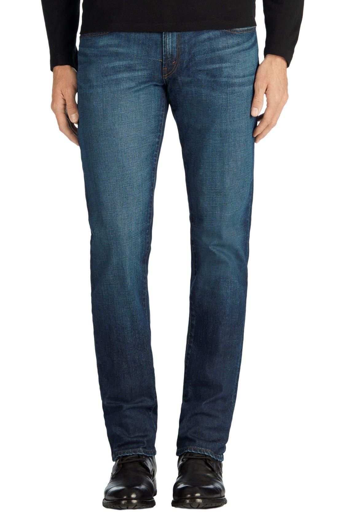 Tyler Slim Fit Jeans,                             Alternate thumbnail 6, color,                             DIRAN BLUE
