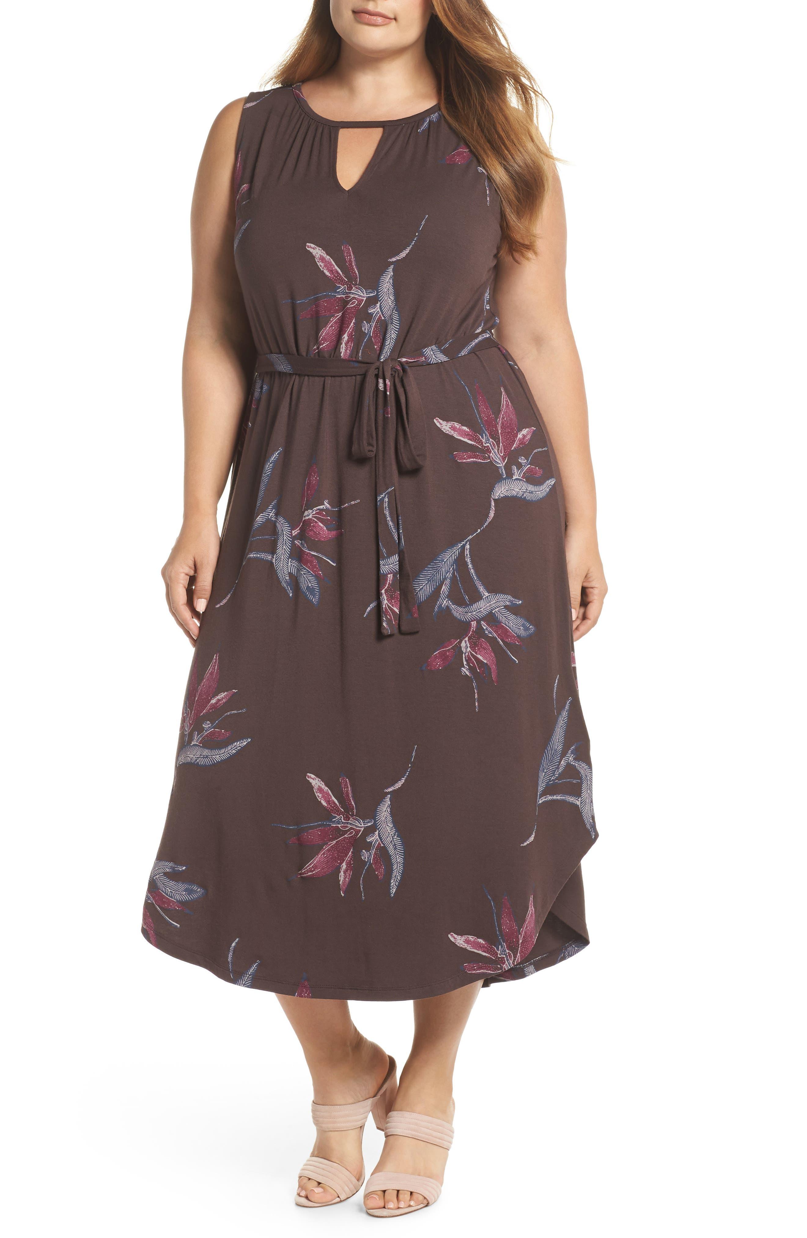 Floral Halter Dress,                             Main thumbnail 1, color,                             MULTI