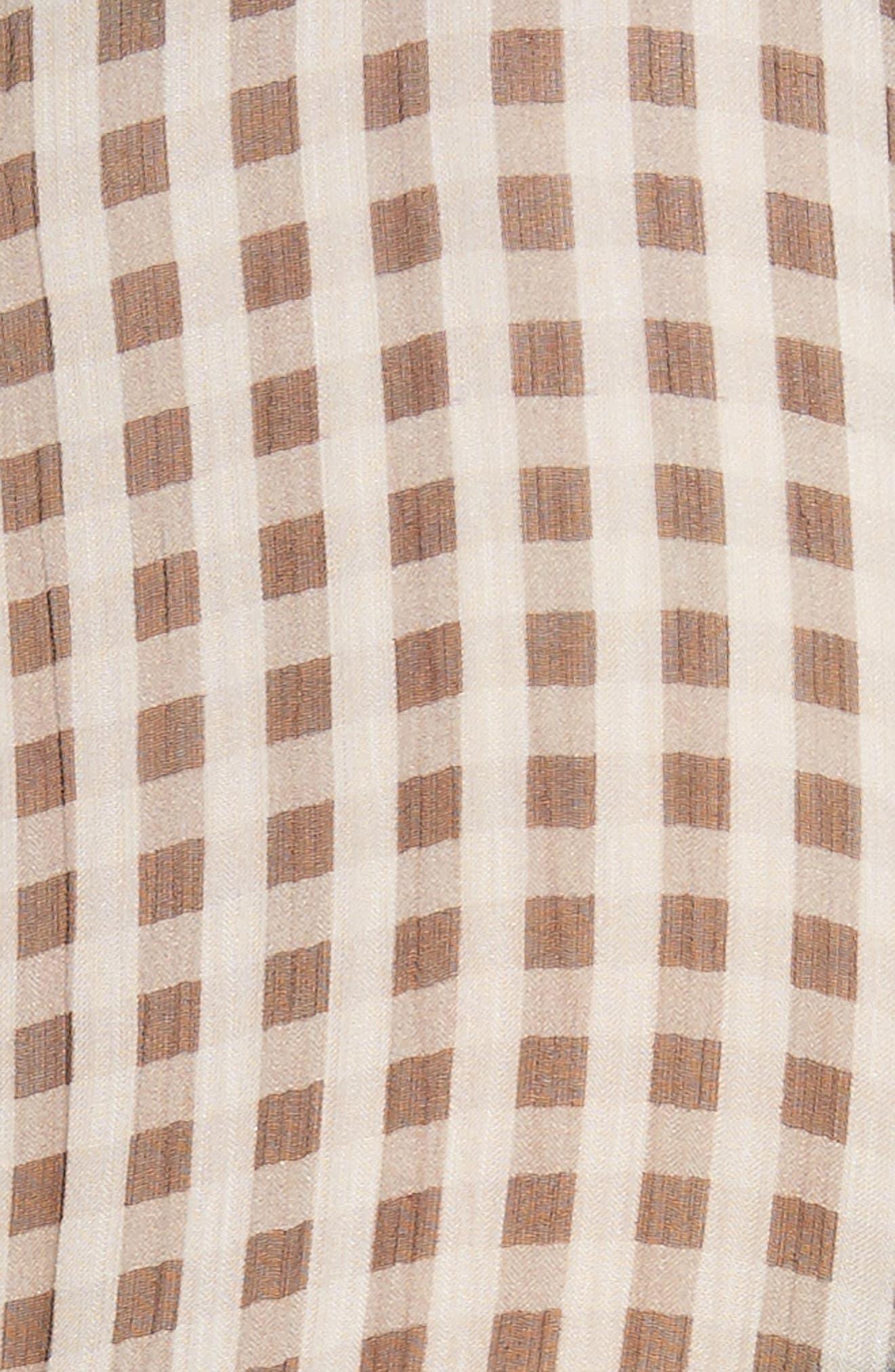 Check Silk Shirt,                             Alternate thumbnail 5, color,