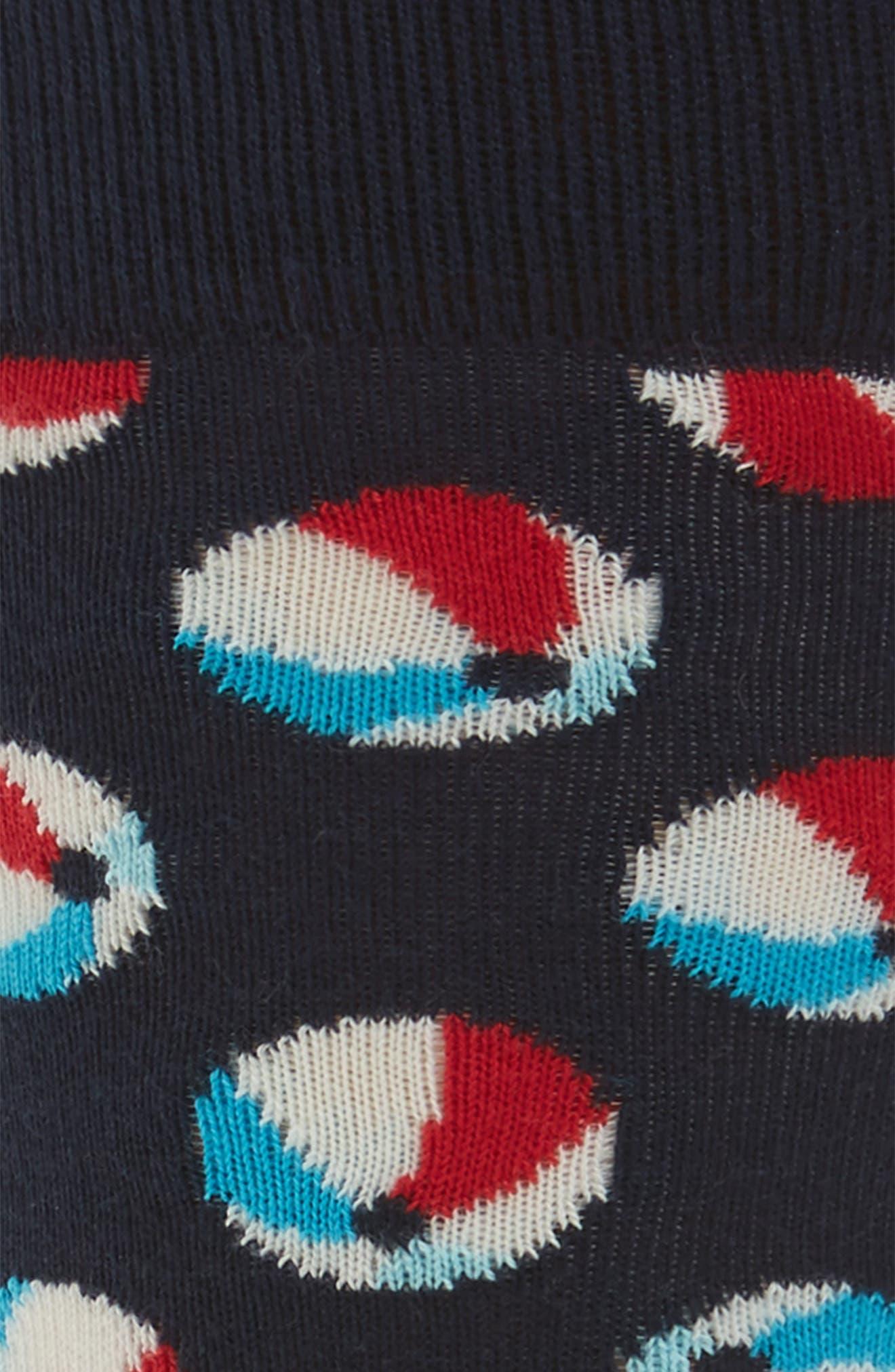 Beach Ball Socks,                             Alternate thumbnail 2, color,                             NAVY MULTI
