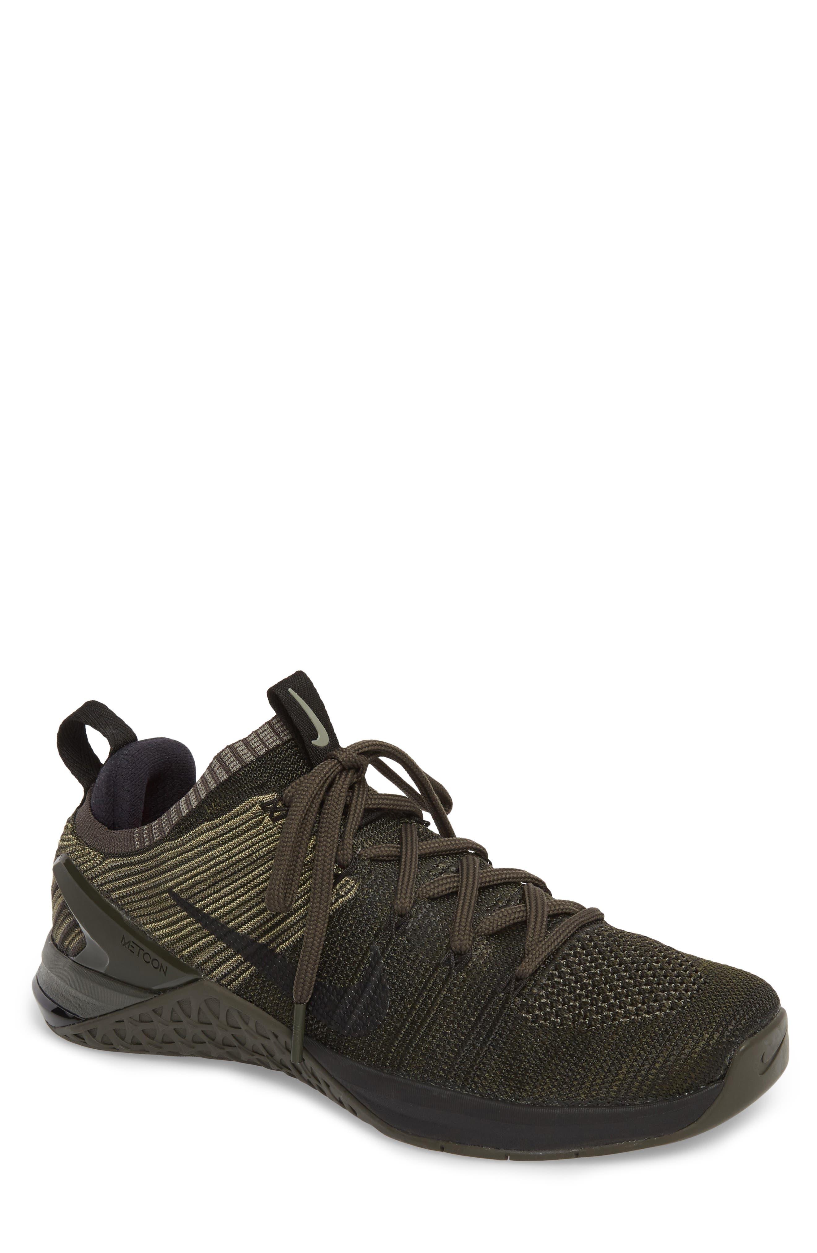 Metcon DSX Flyknit 2 Training Shoe,                             Main thumbnail 1, color,                             DARK STUCCO/ BLACK/ NEWSPRINT