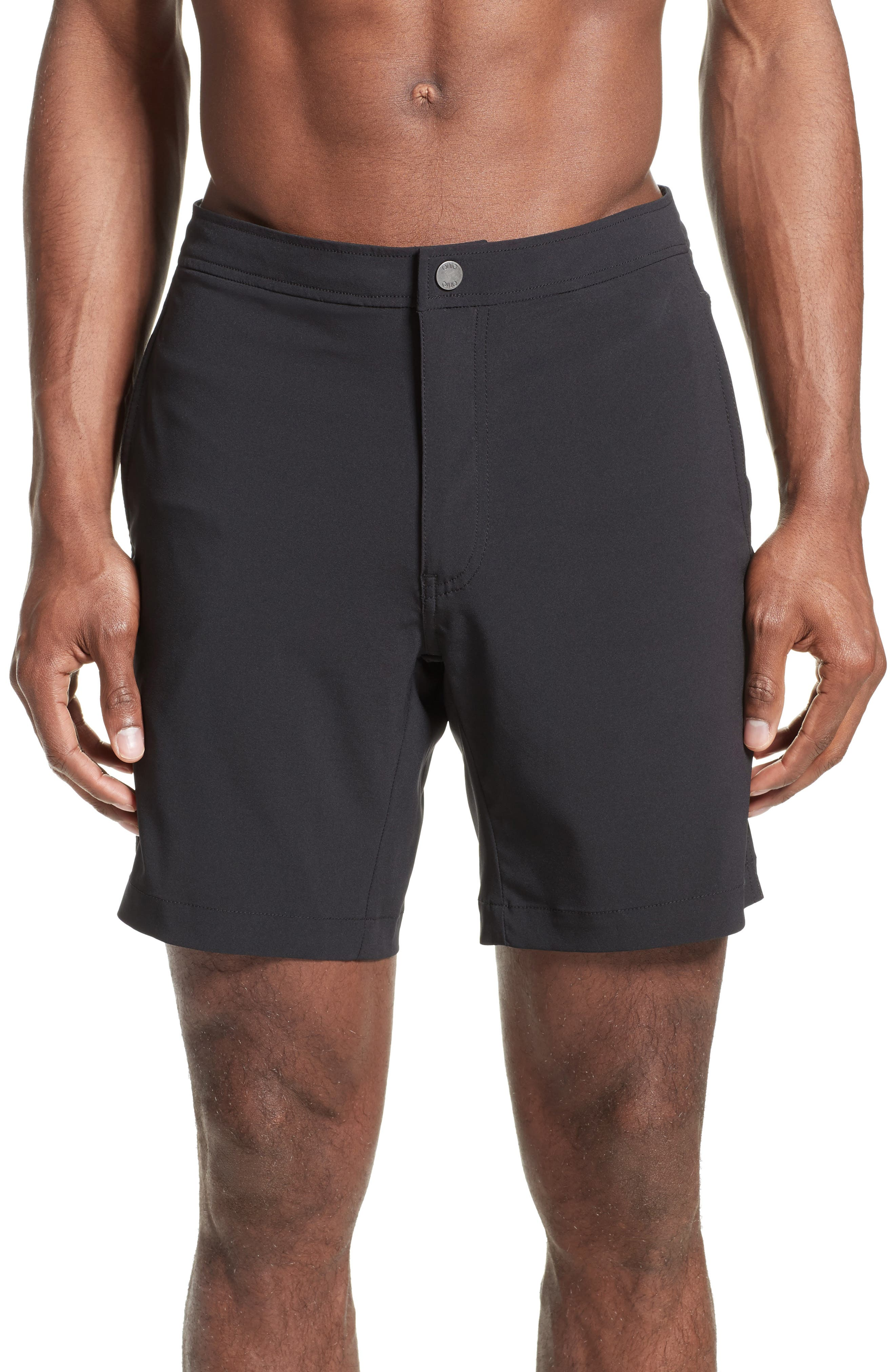 'Calder' Swim Trunks,                             Alternate thumbnail 2, color,                             BLACK