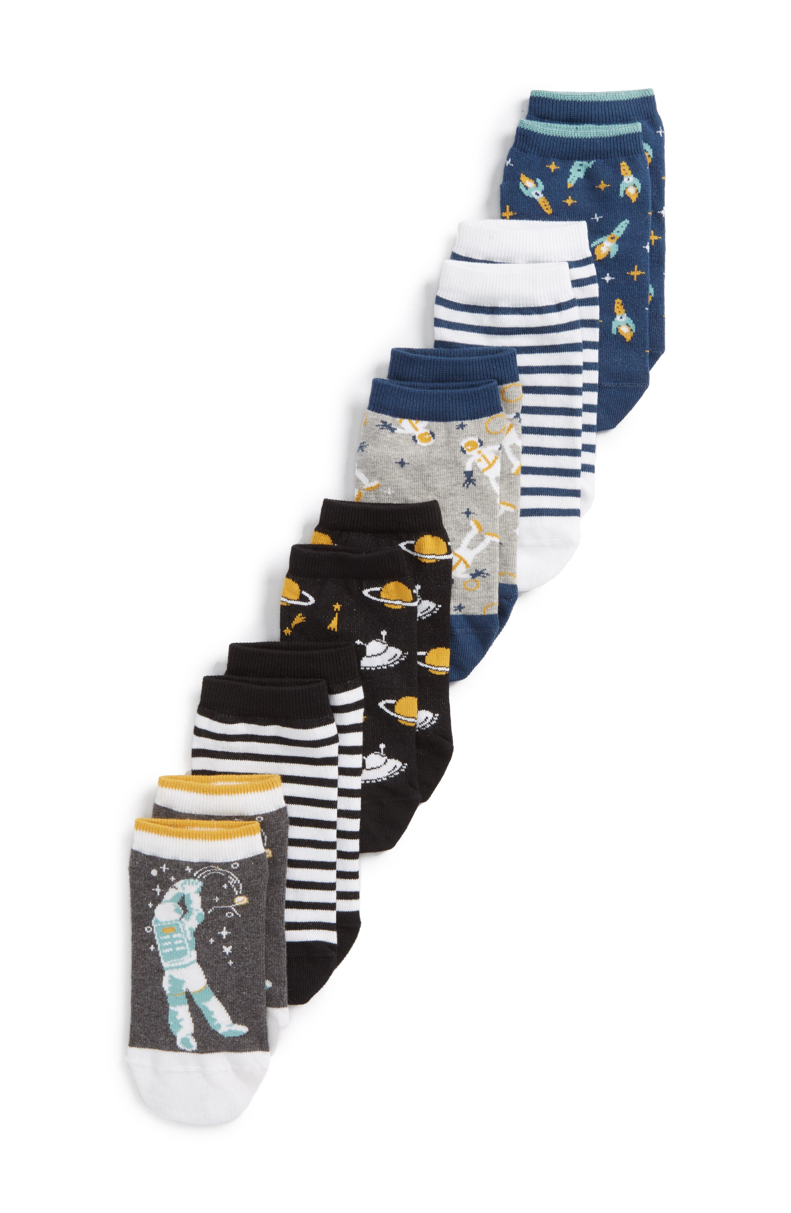 Space 6-Pack Ankle Socks,                             Main thumbnail 1, color,                             020