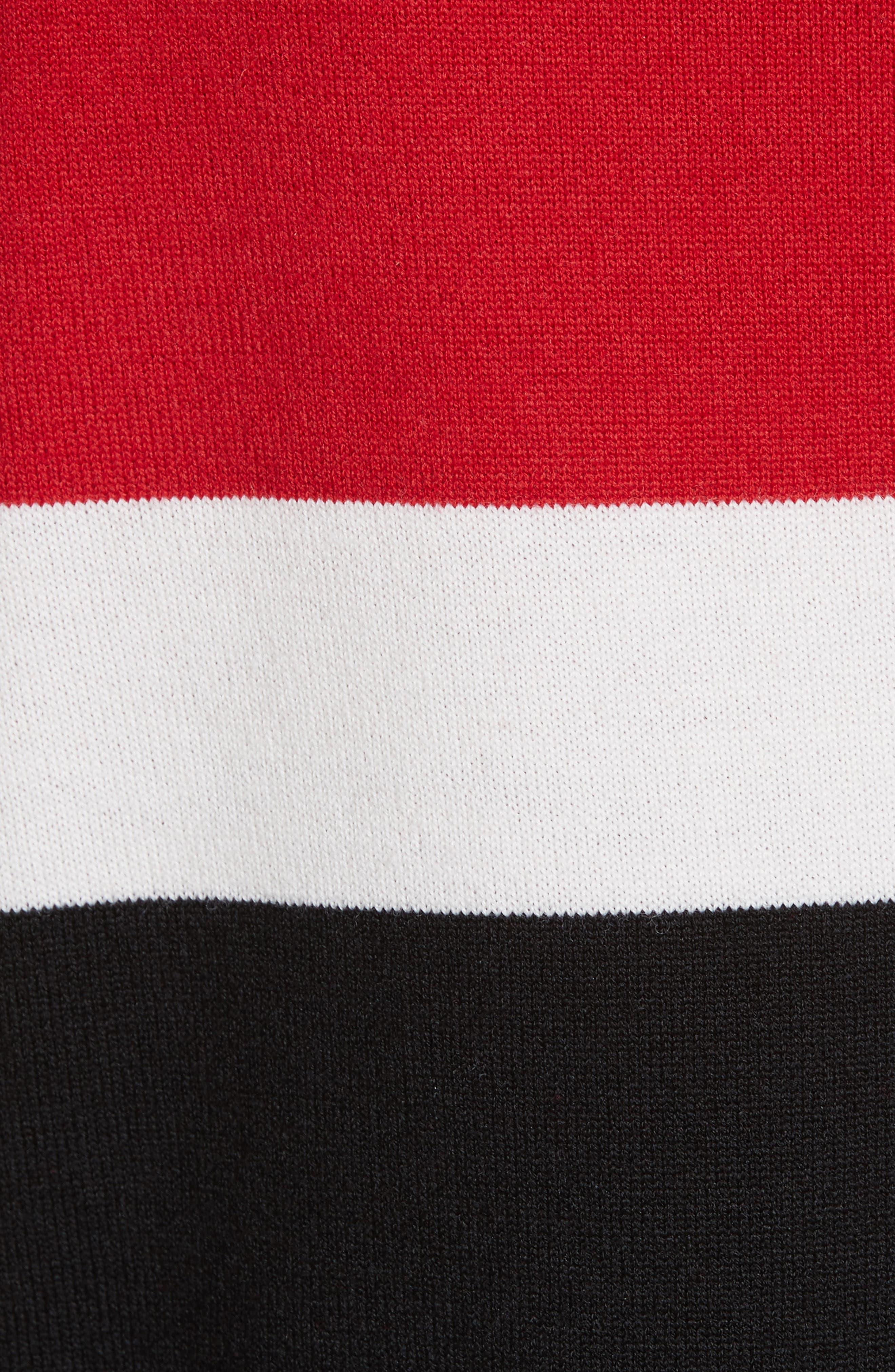 Stripe Wool Blend Pullover,                             Alternate thumbnail 5, color,                             001