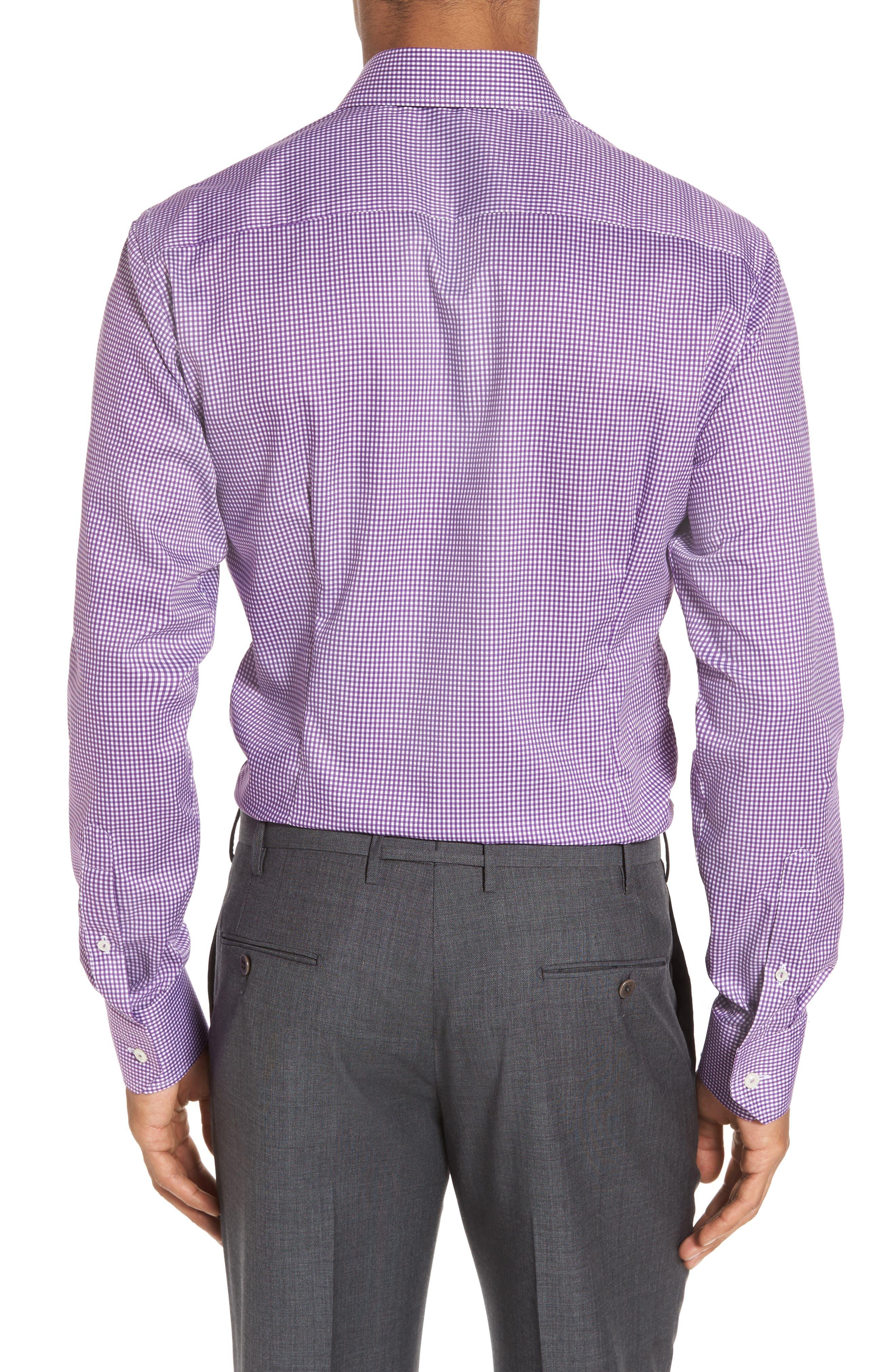 Slim Fit Check Dress Shirt,                             Alternate thumbnail 2, color,                             500
