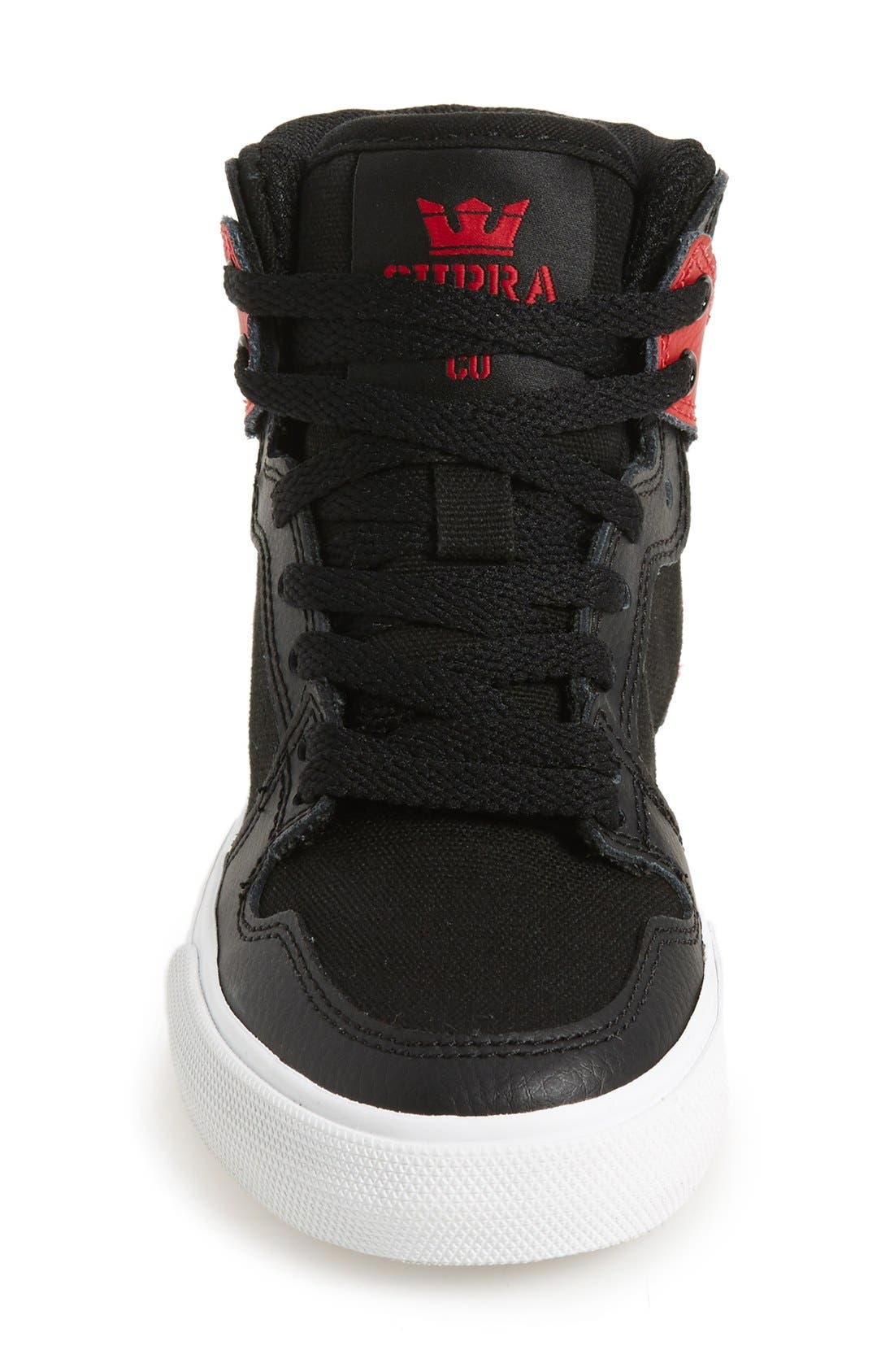 'Vaider' High Top Sneaker,                             Alternate thumbnail 3, color,                             001