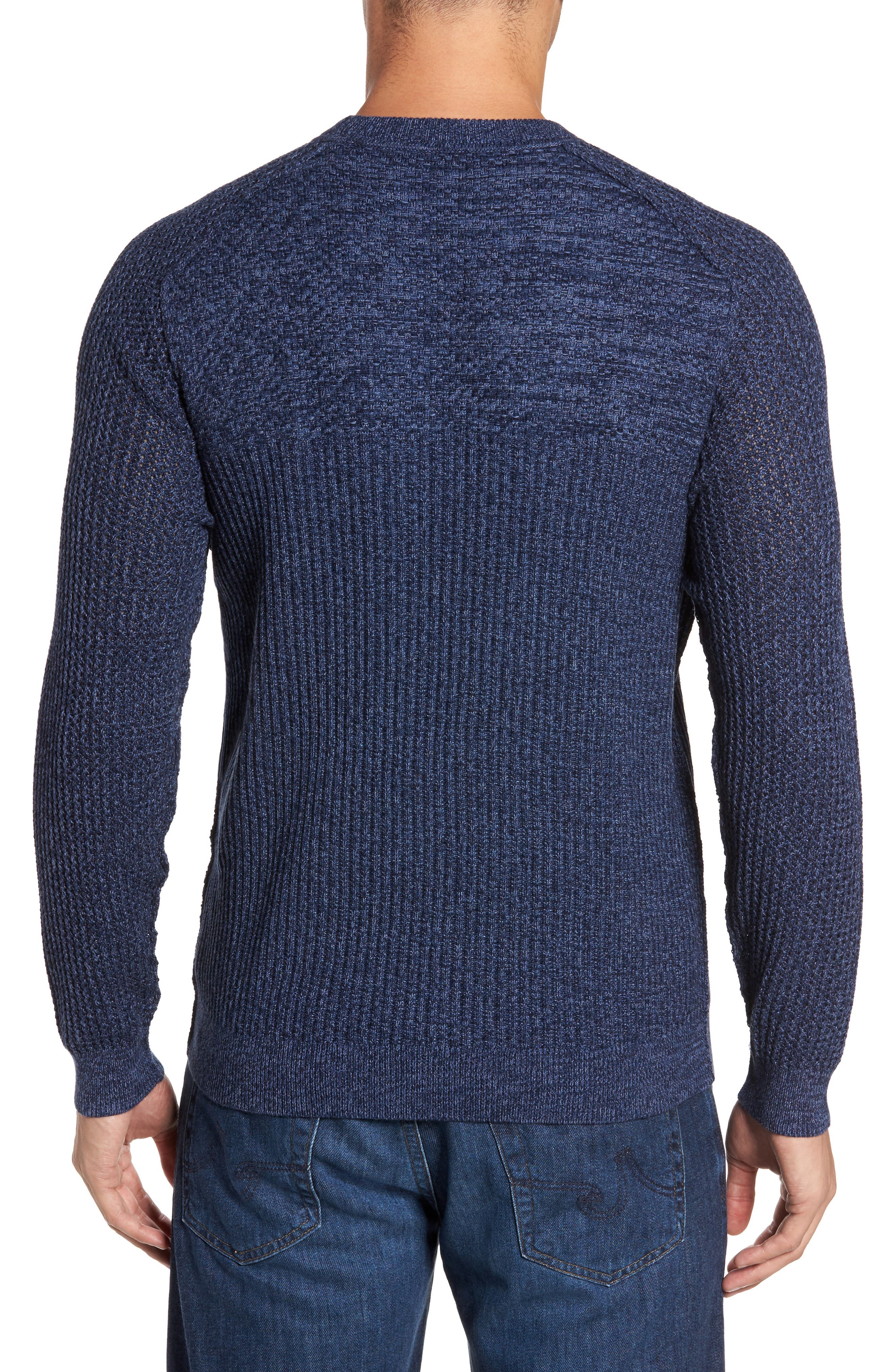 Medina Marl Cotton Sweater,                             Alternate thumbnail 2, color,                             001