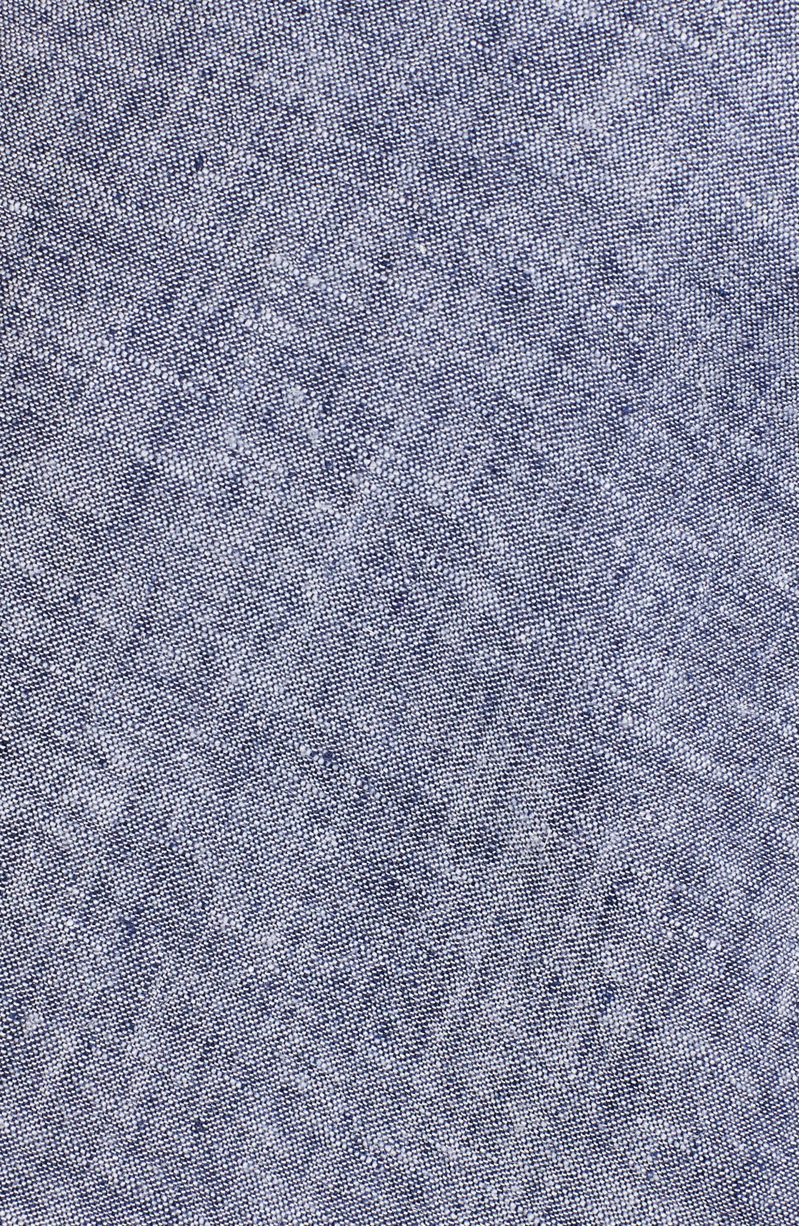 Twist Front Linen Blend Shirt,                             Alternate thumbnail 15, color,