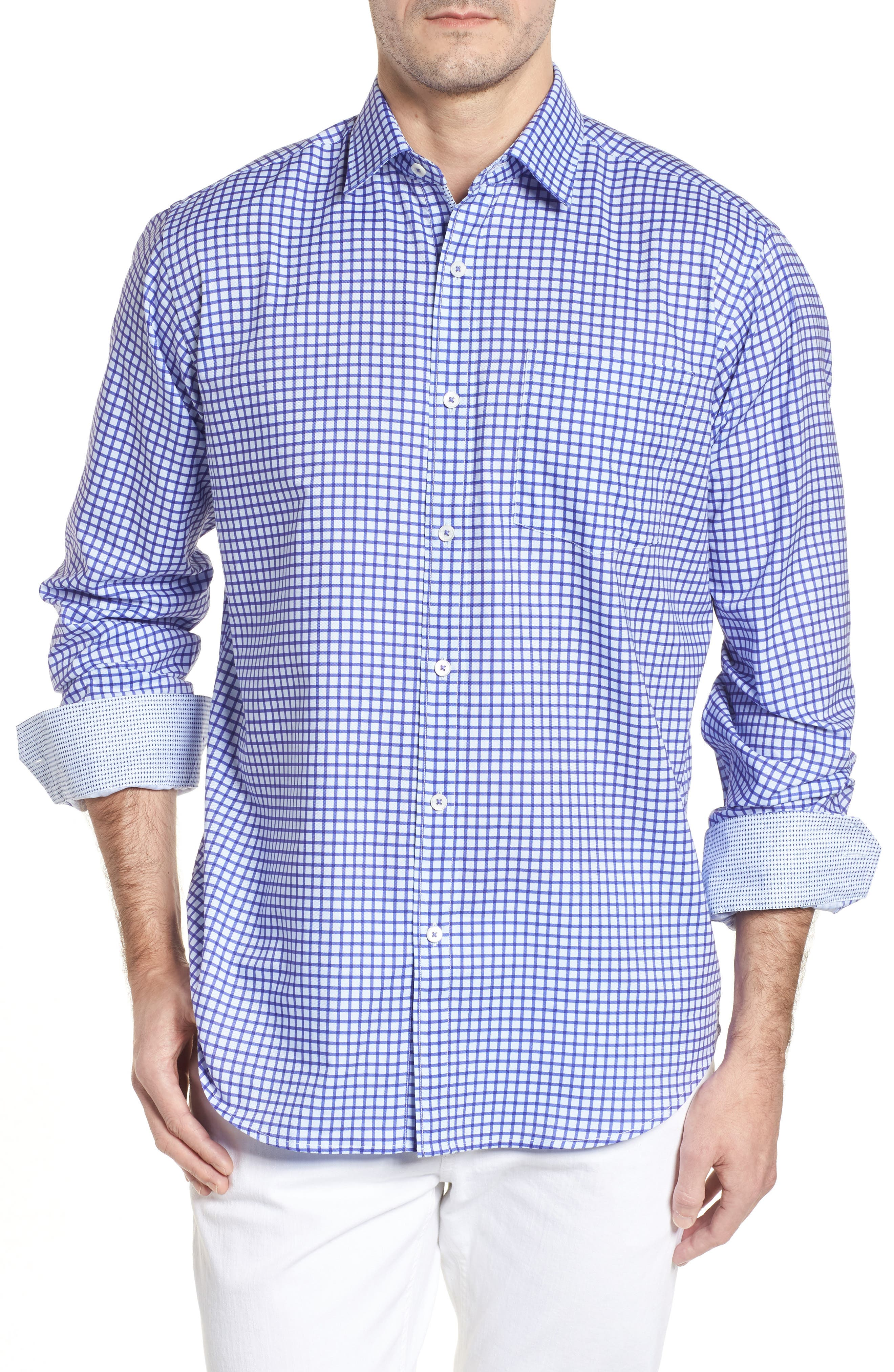 Classic Fit Check Sport Shirt,                         Main,                         color, 513