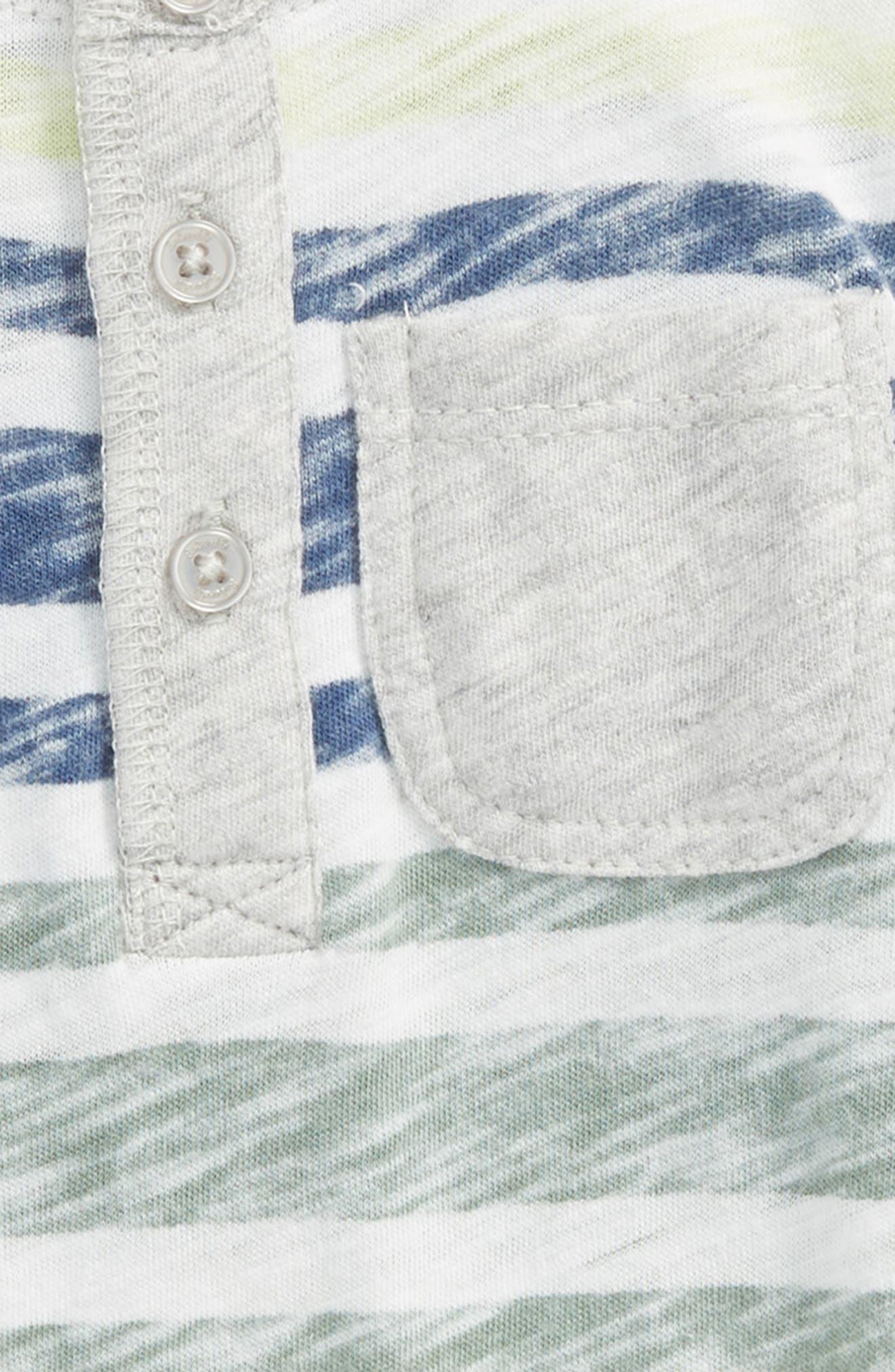 Reverse Stripe Romper,                             Alternate thumbnail 2, color,                             100