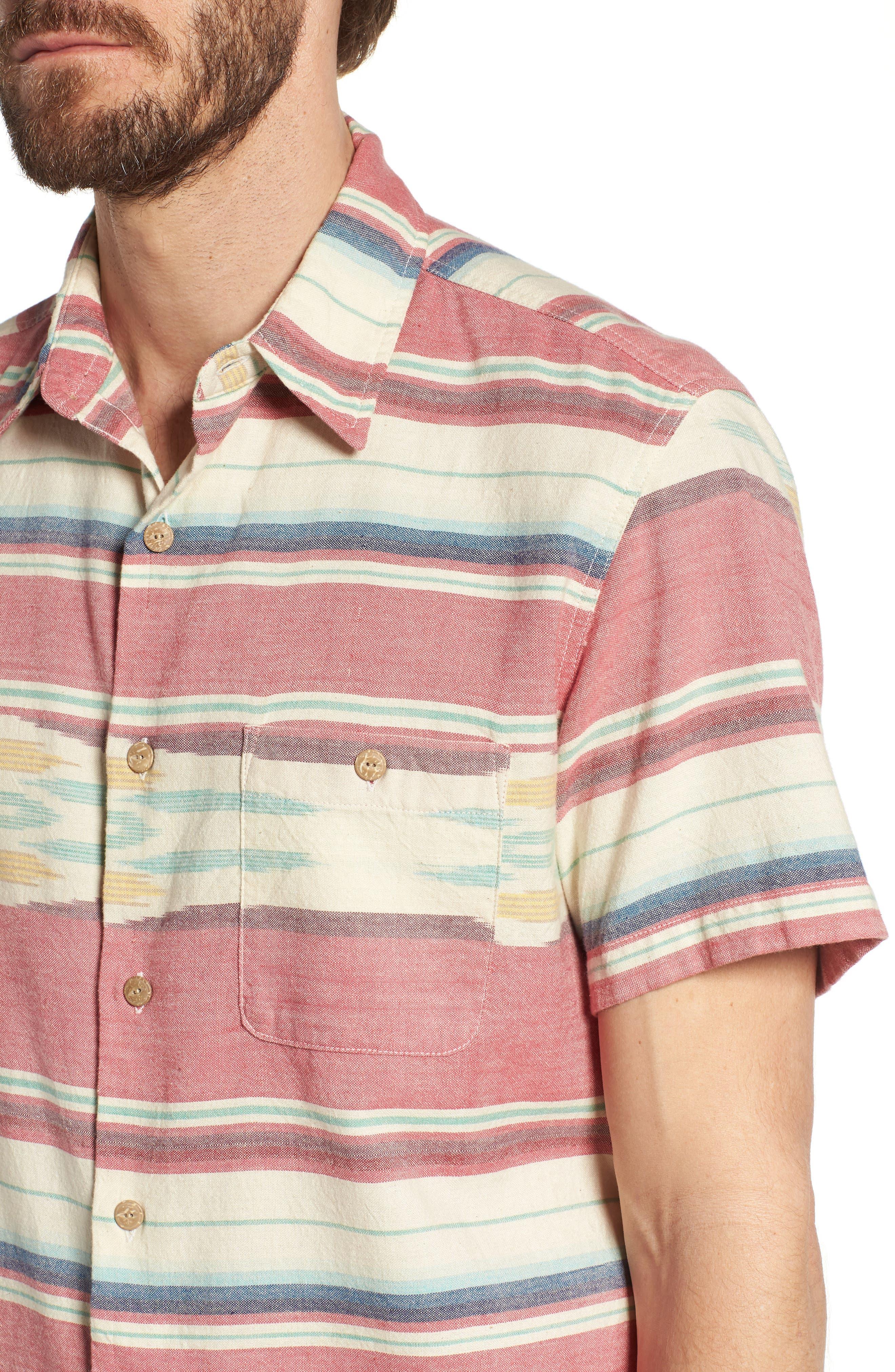 Coast Ikat Sport Shirt,                             Alternate thumbnail 4, color,                             600