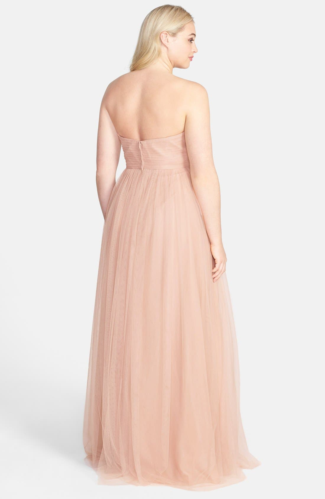 Annabelle Convertible Tulle Column Dress,                             Alternate thumbnail 181, color,