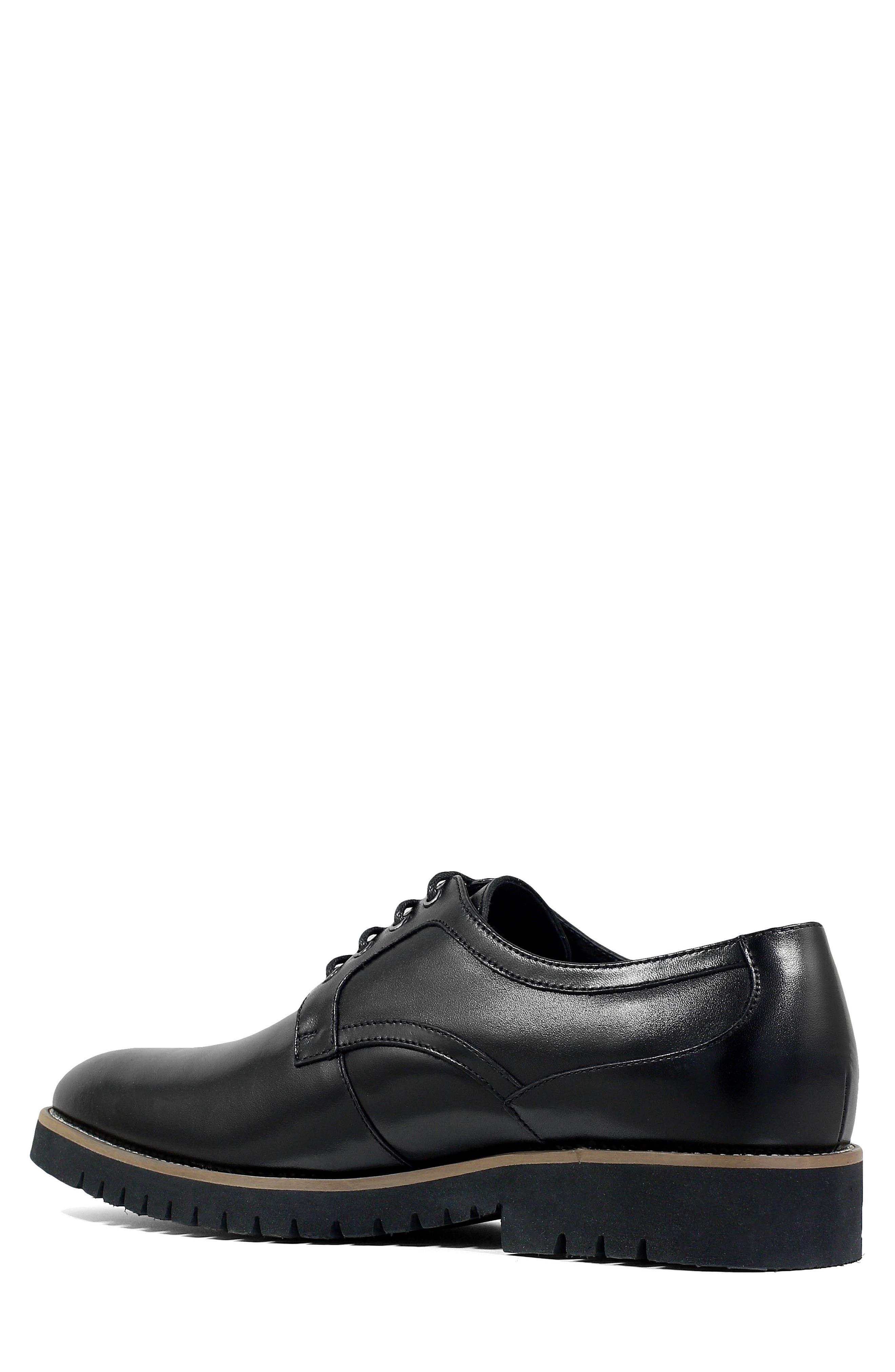 Barclay Plain Toe Derby,                             Alternate thumbnail 2, color,                             BLACK LEATHER