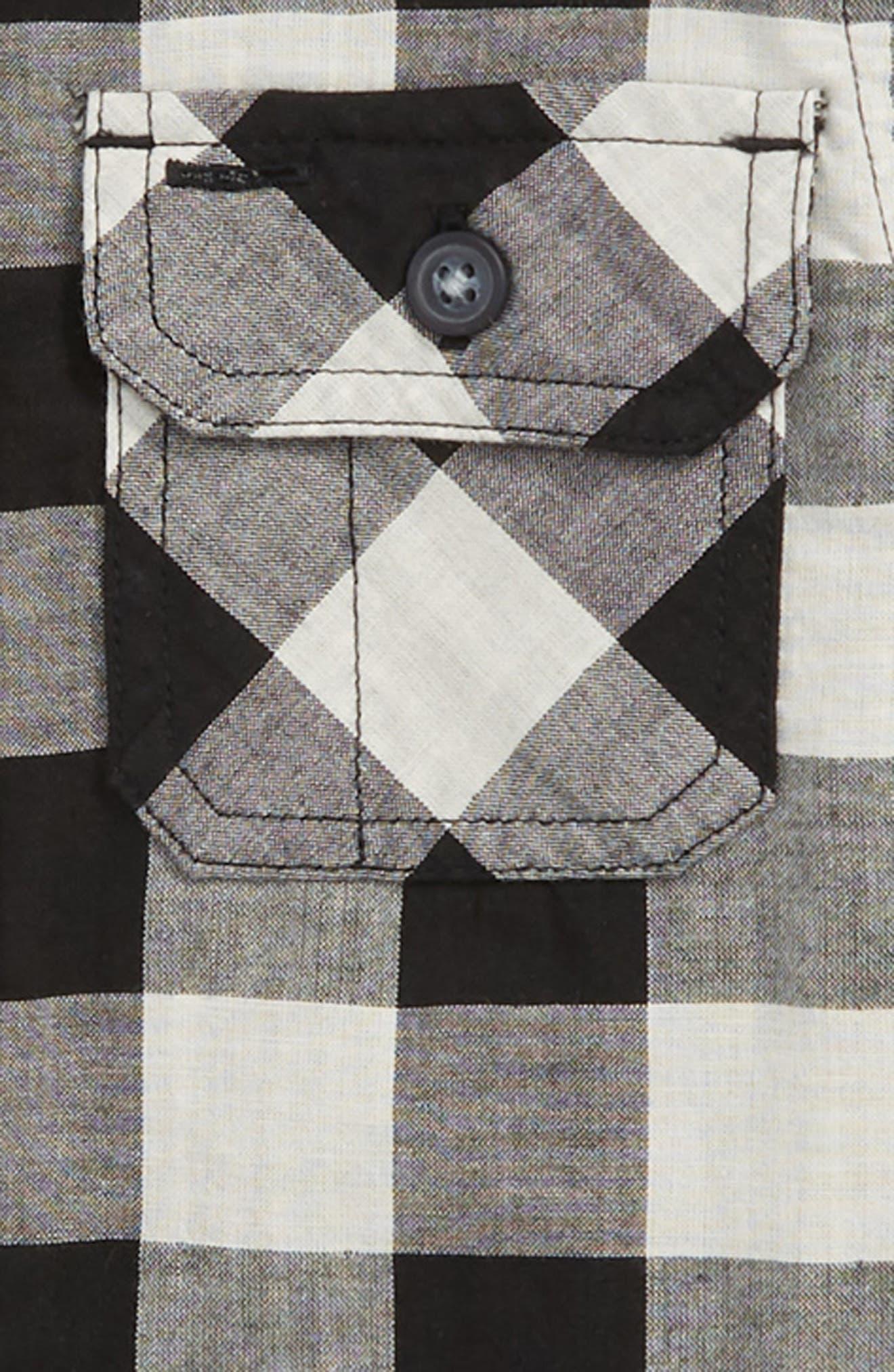Double Weave Plaid Shirt,                             Alternate thumbnail 2, color,                             001