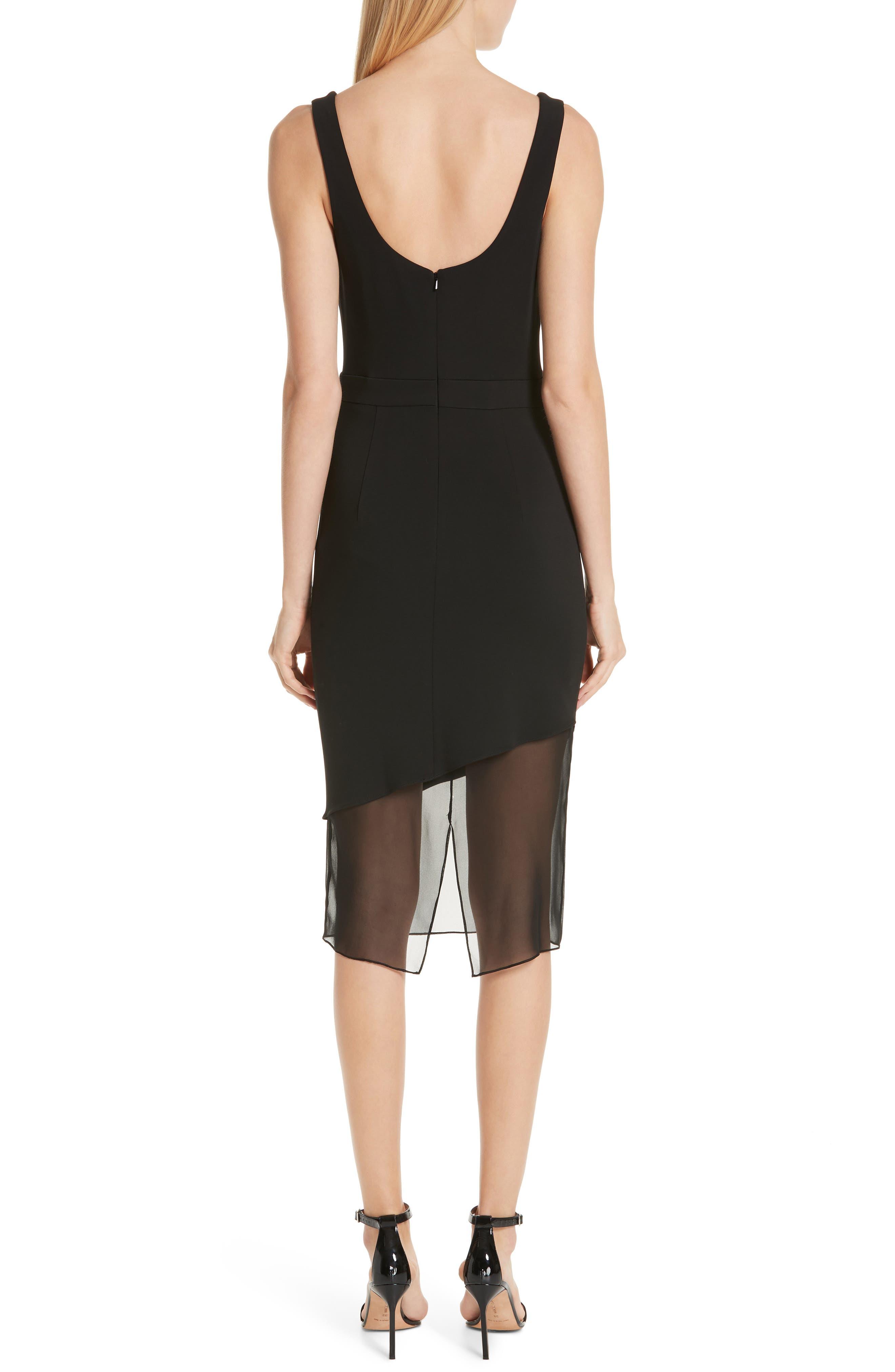 CUSHNIE,                             Cowl Neck Dress,                             Alternate thumbnail 2, color,                             BLACK