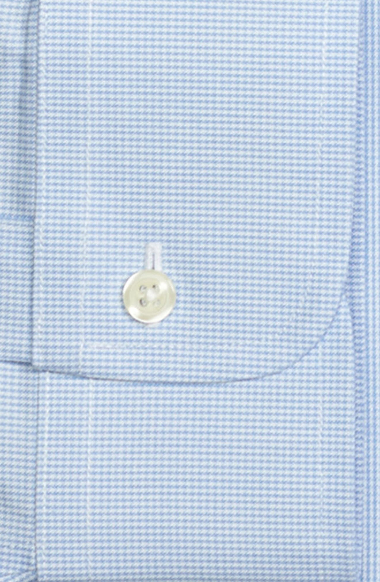 Trim Fit Houndstooth Dress Shirt,                             Alternate thumbnail 2, color,                             LIGHT/ PASTEL BLUE