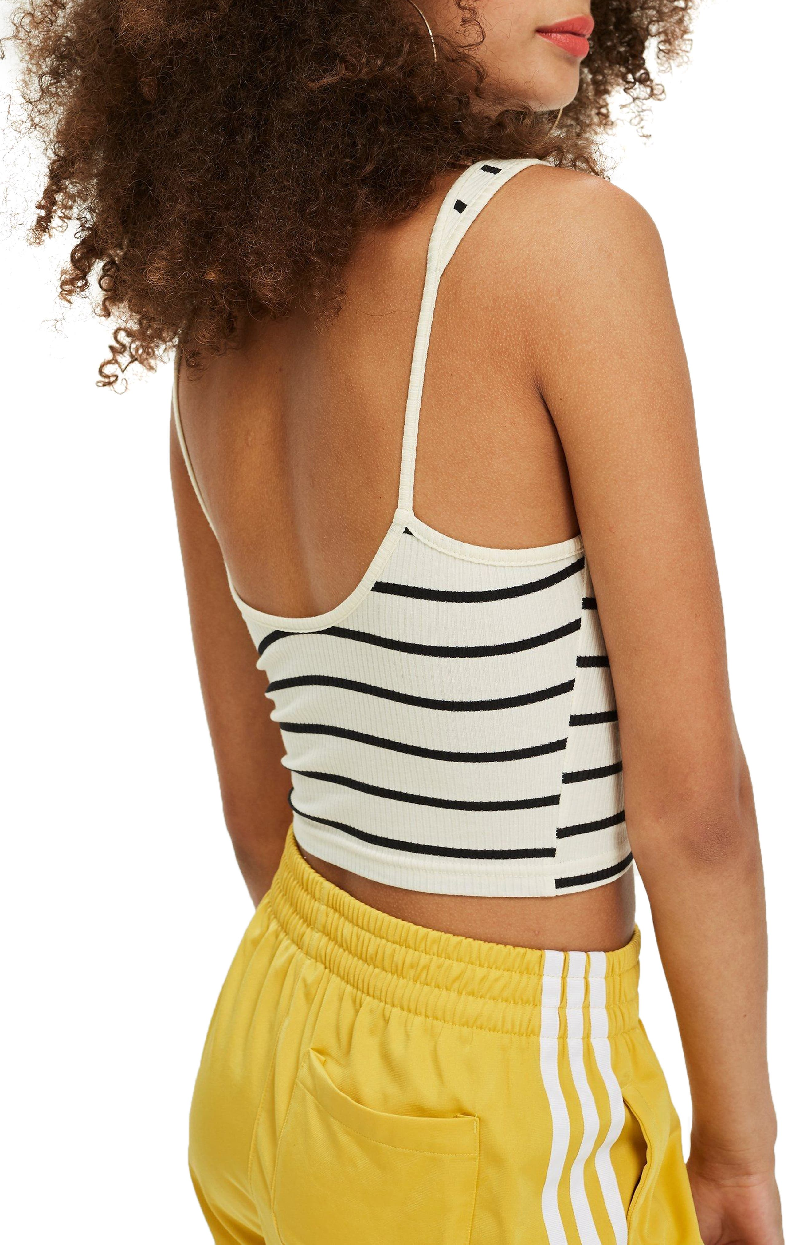 Strappy Scoopback Crop Tank,                             Alternate thumbnail 4, color,