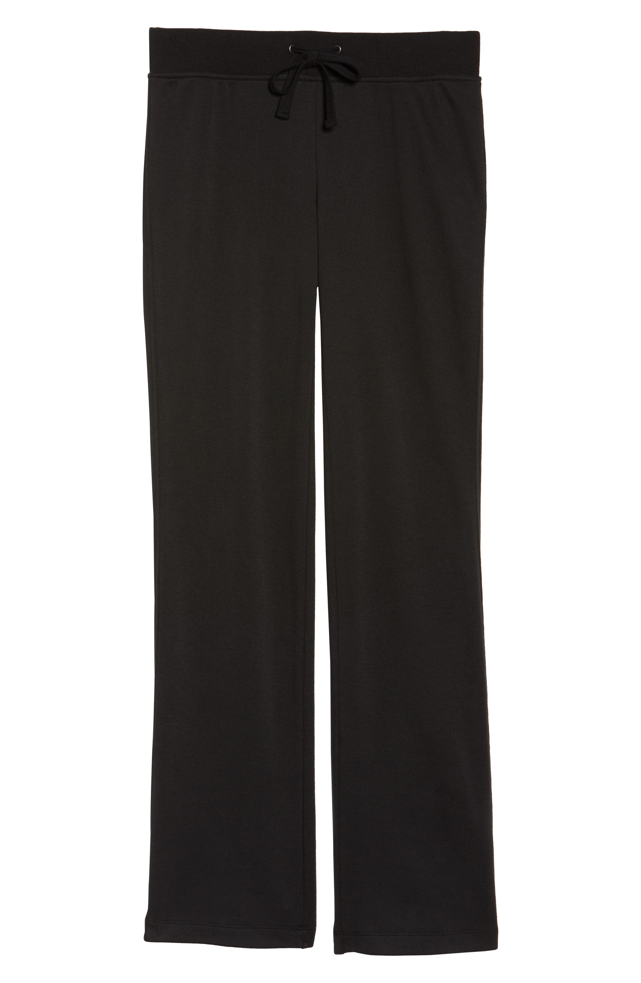 Penny Lounge Pants,                             Alternate thumbnail 6, color,                             BLACK