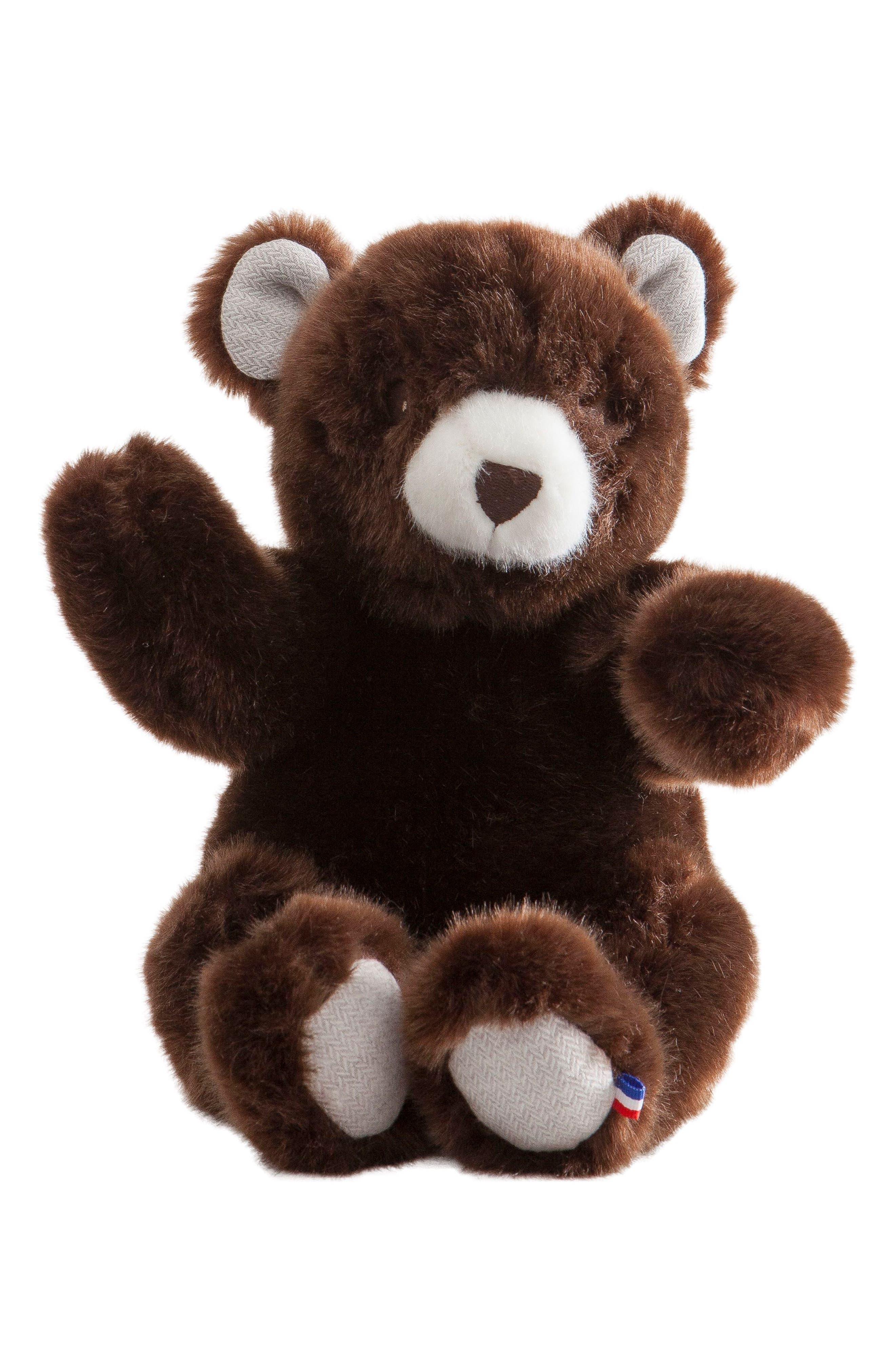 Robert the Bear Stuffed Animal,                             Main thumbnail 1, color,                             BROWN