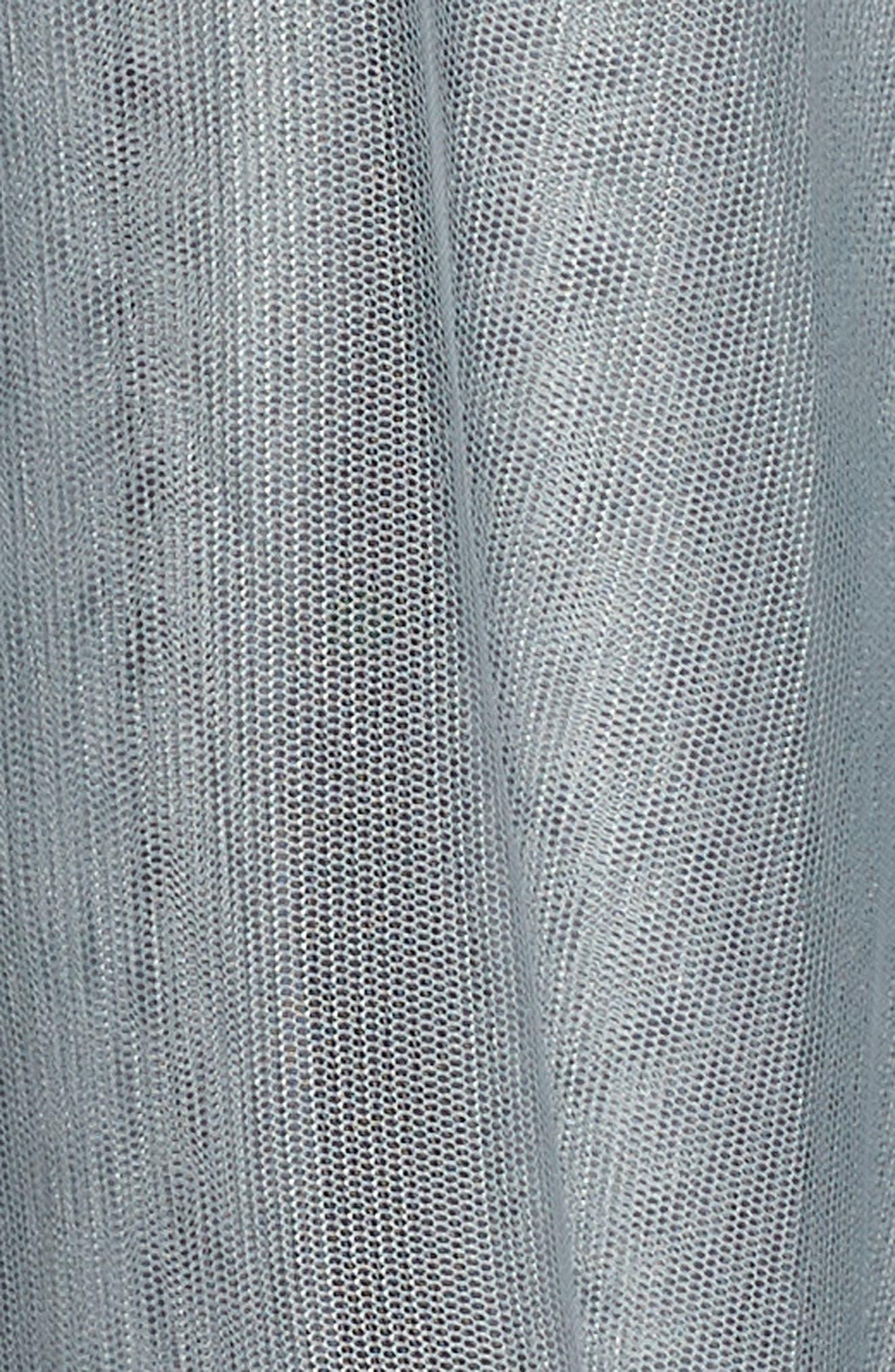 Bridget Embellished Tiered Tulle Dress,                             Alternate thumbnail 5, color,                             GREY