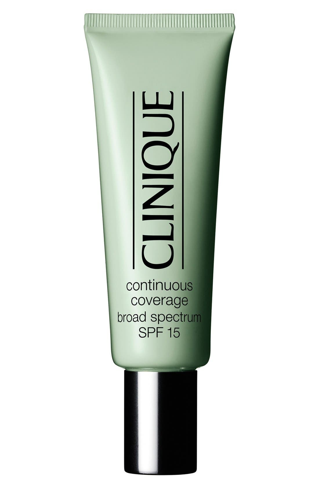 CLINIQUE Continuous Coverage Makeup Broad Spectrum SPF 15, Main, color, CREAMY GLOW