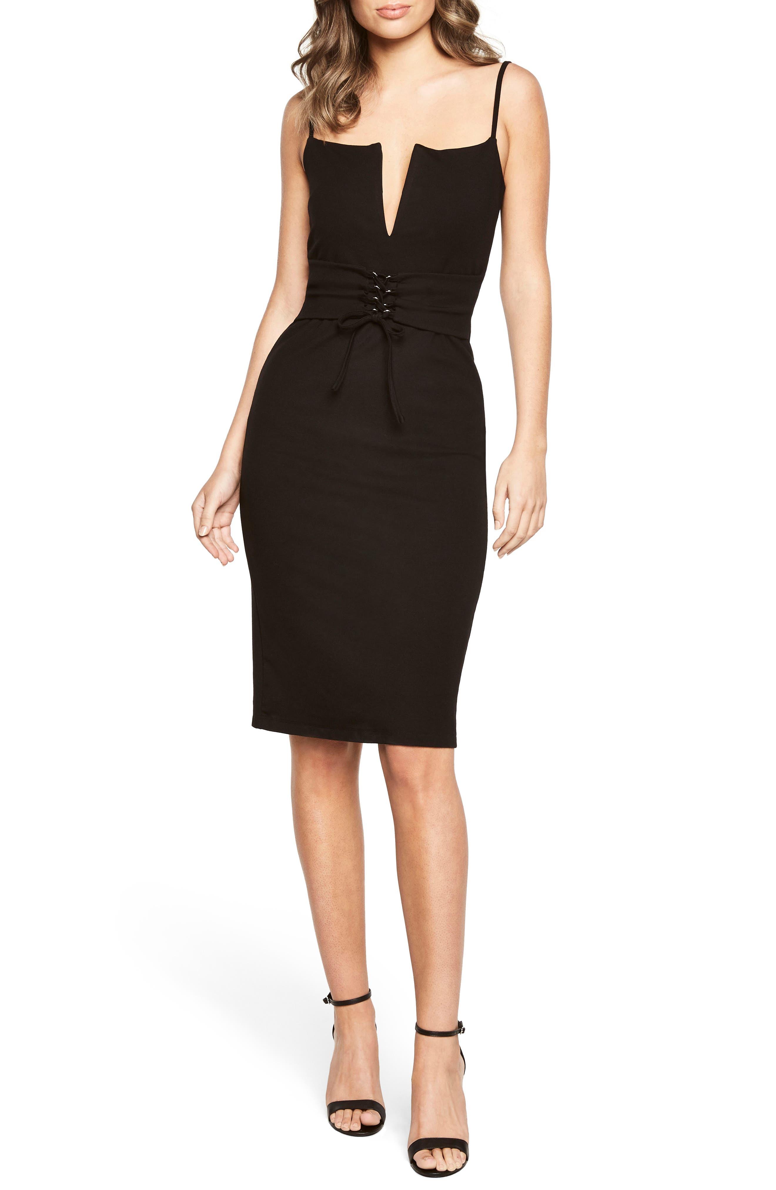 Corset Body-Con Dress,                         Main,                         color, 001