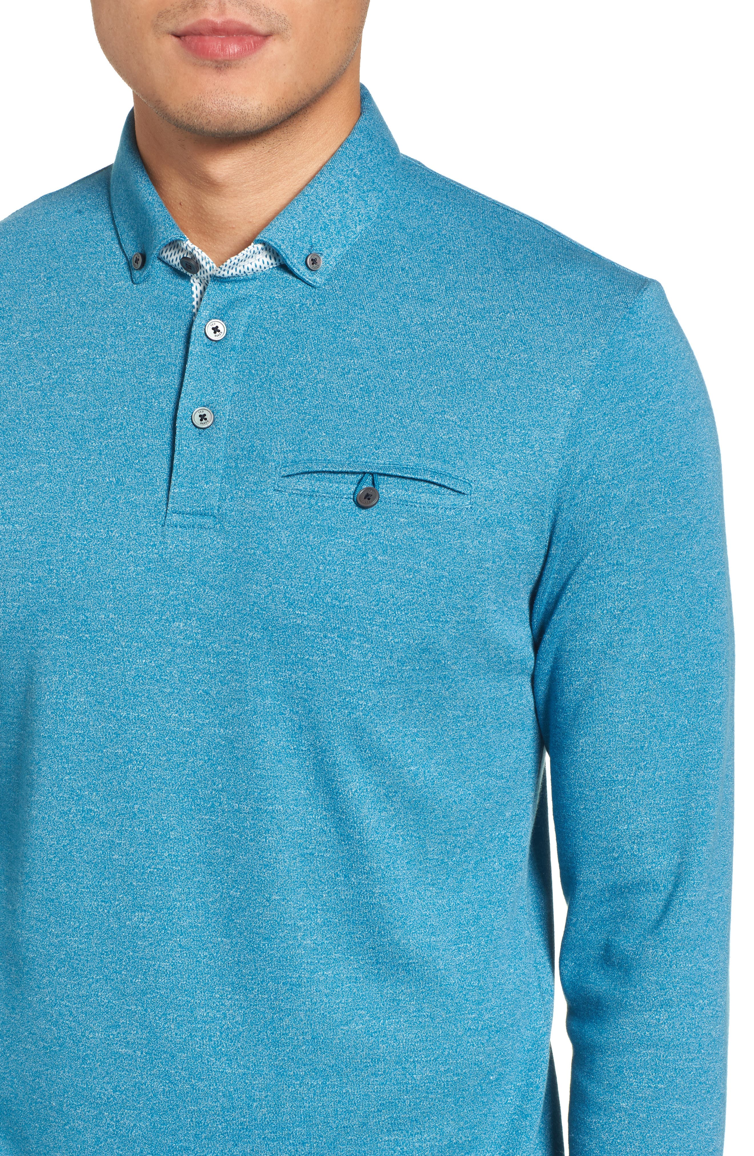 Yamway Modern Slim Fit Long Sleeve Polo,                             Alternate thumbnail 12, color,