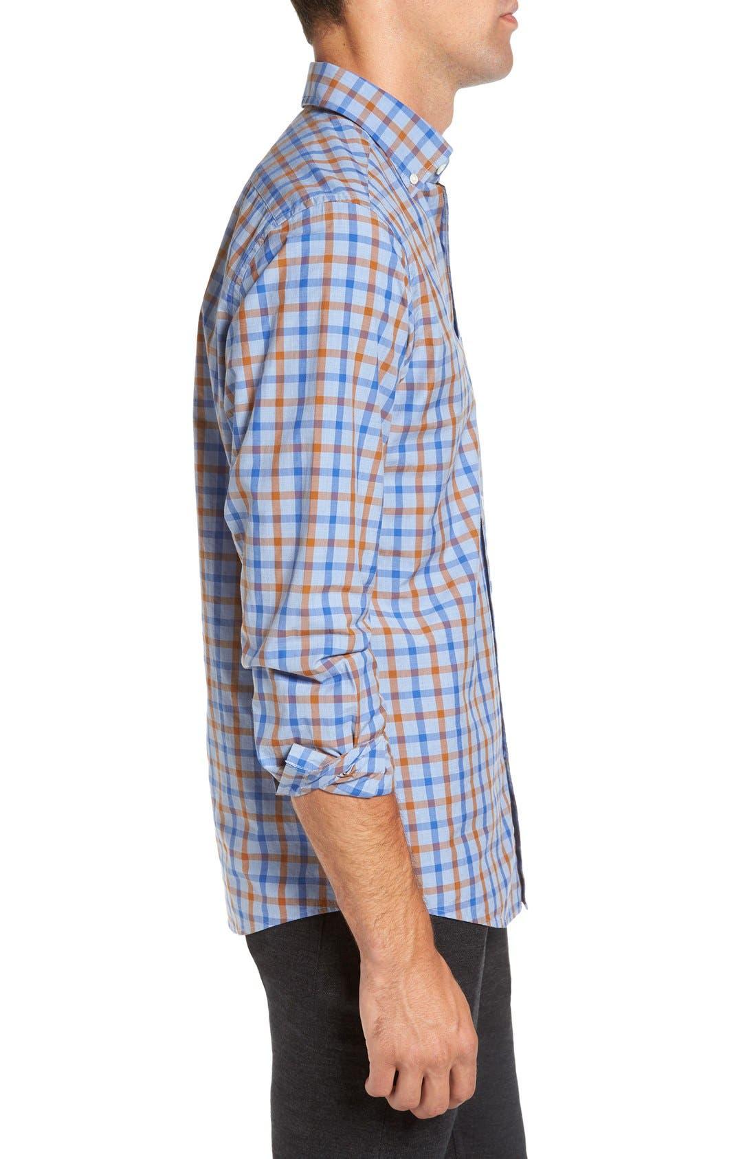 'Codfish Island' Sports Fit Check Sport Shirt,                             Alternate thumbnail 3, color,                             200