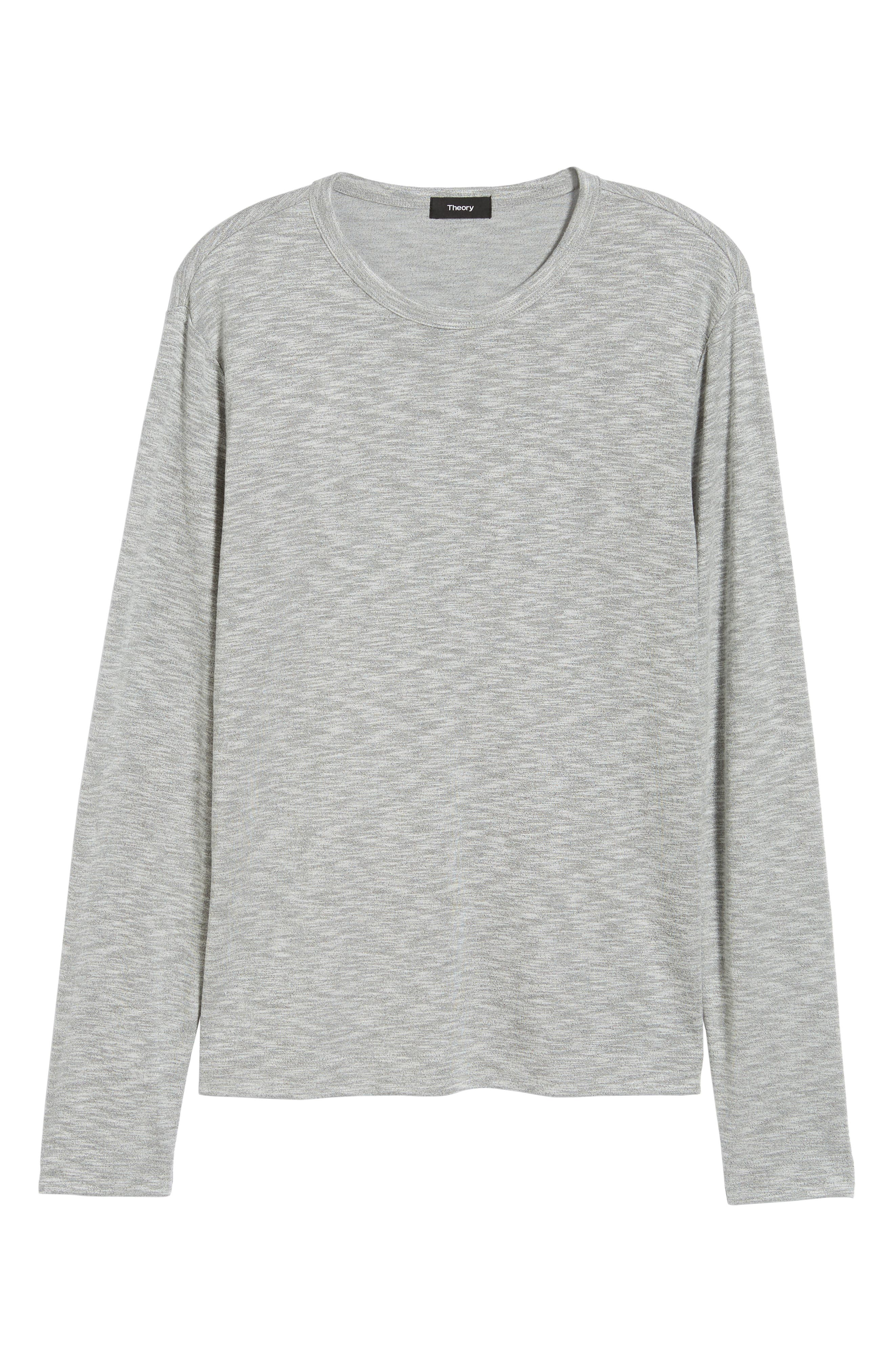 Gaskell Regular Fit Long Sleeve T-Shirt,                             Alternate thumbnail 6, color,                             GREY MULTI